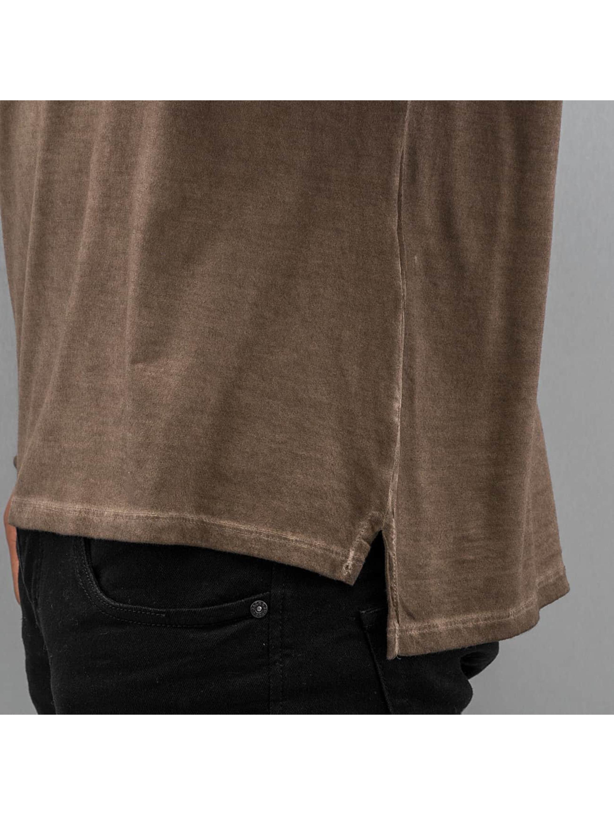 Authentic Style Tričká dlhý rukáv Dyed hnedá