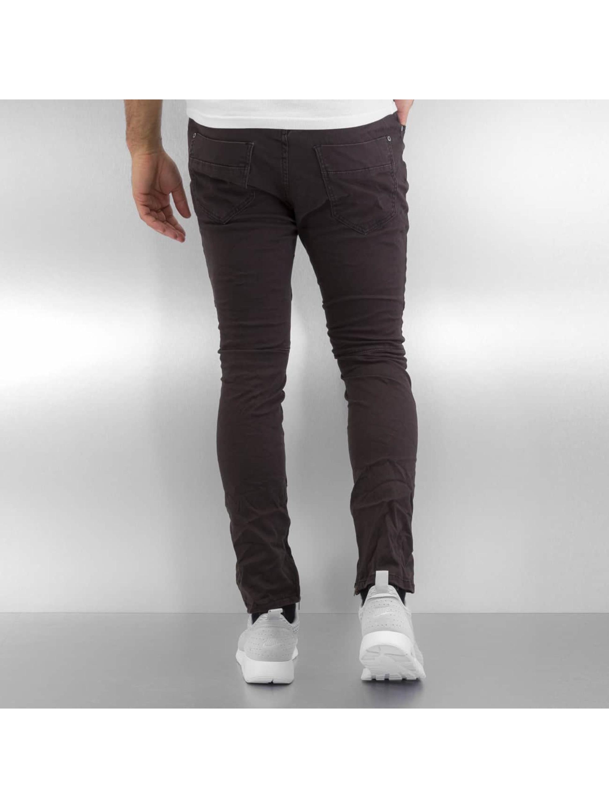 Authentic Style Tygbyxor Style grå