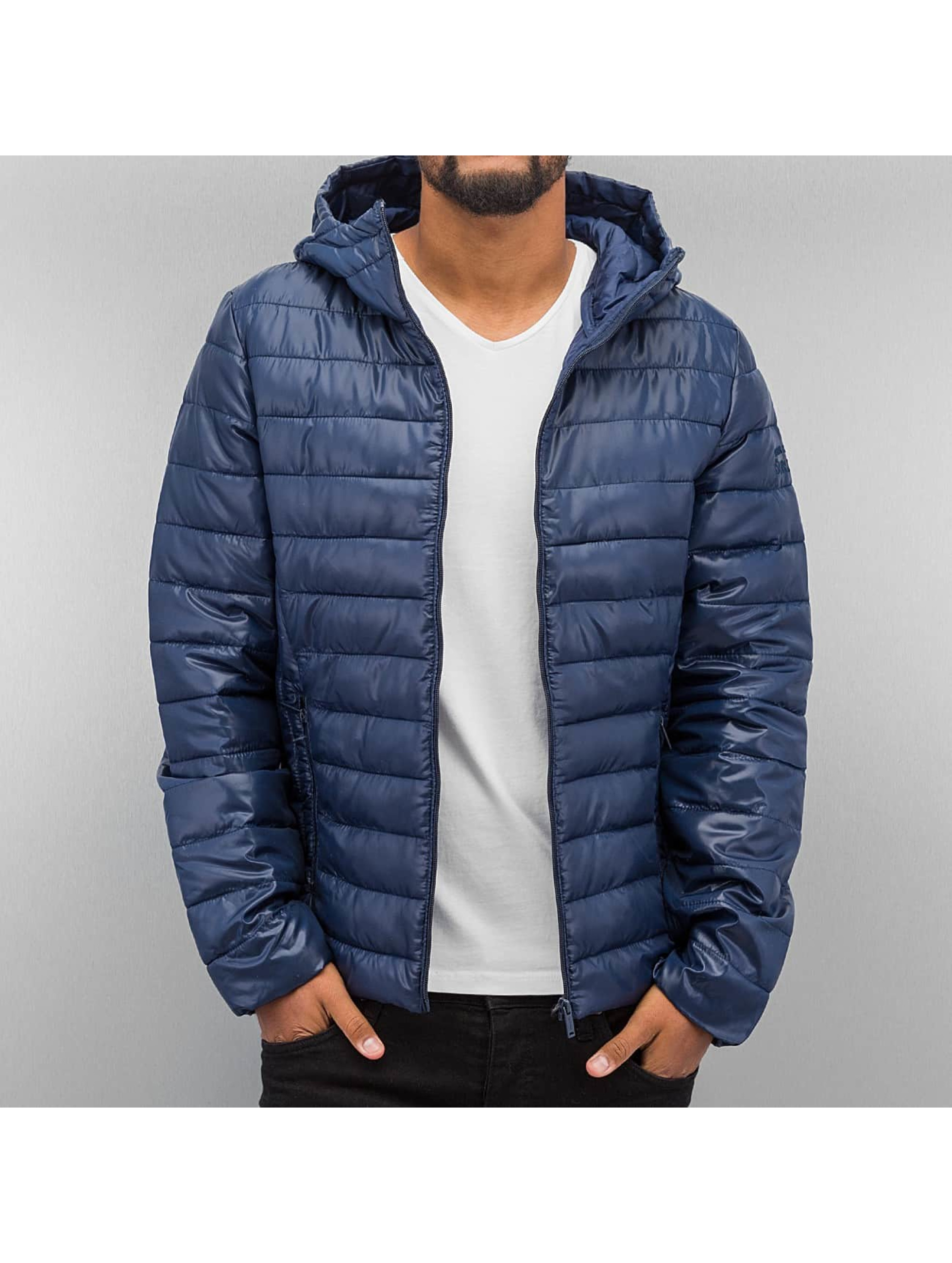 Authentic Style jas / winterjas Quilted in blauw