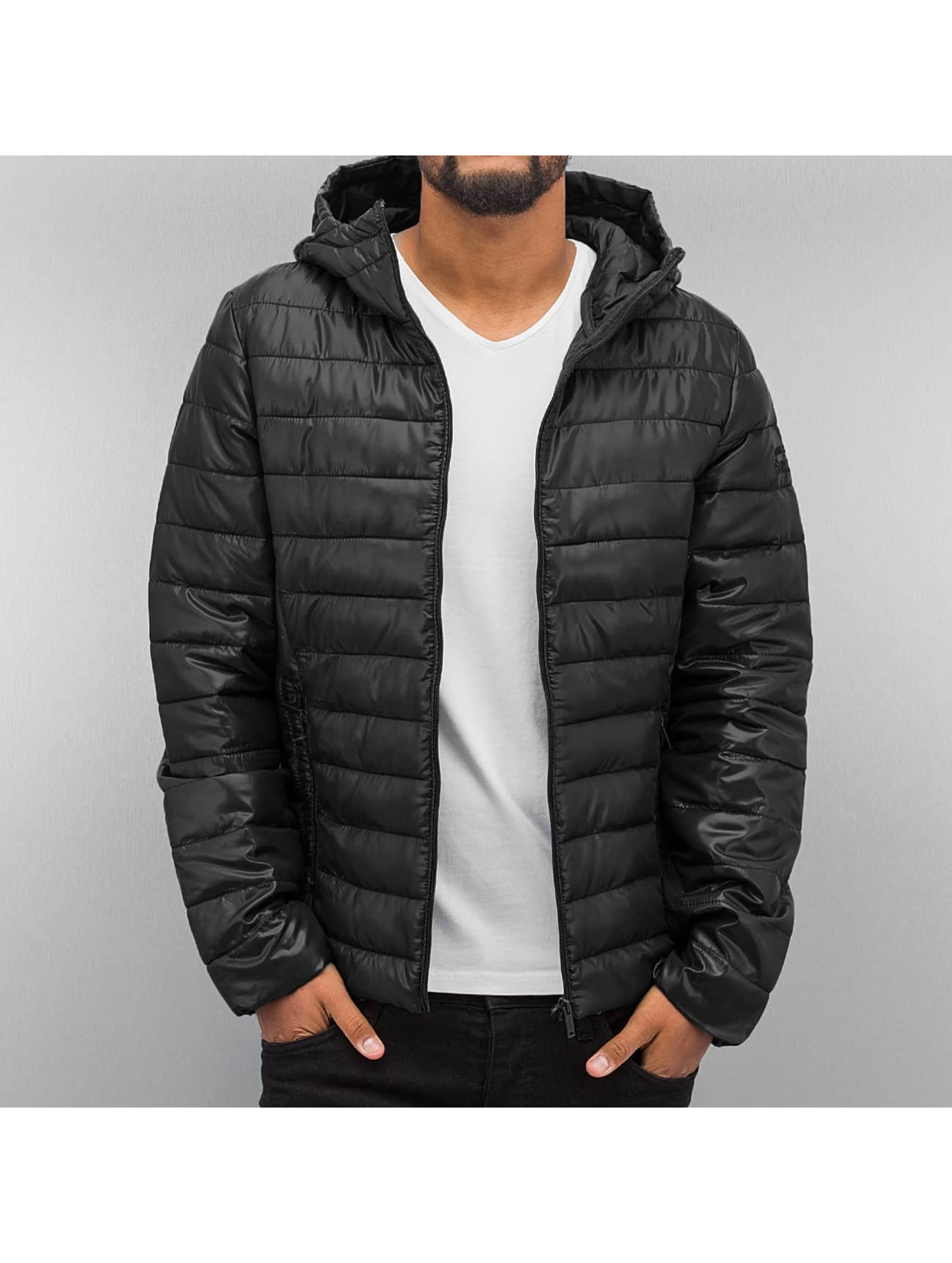Authentic Style jas / winterjas Quilted in zwart