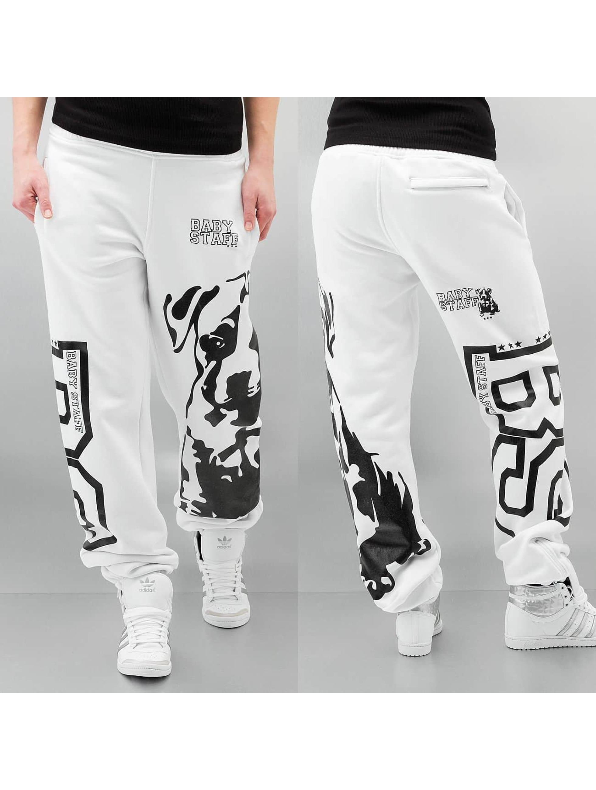 Babystaff joggingbroek Puppy wit