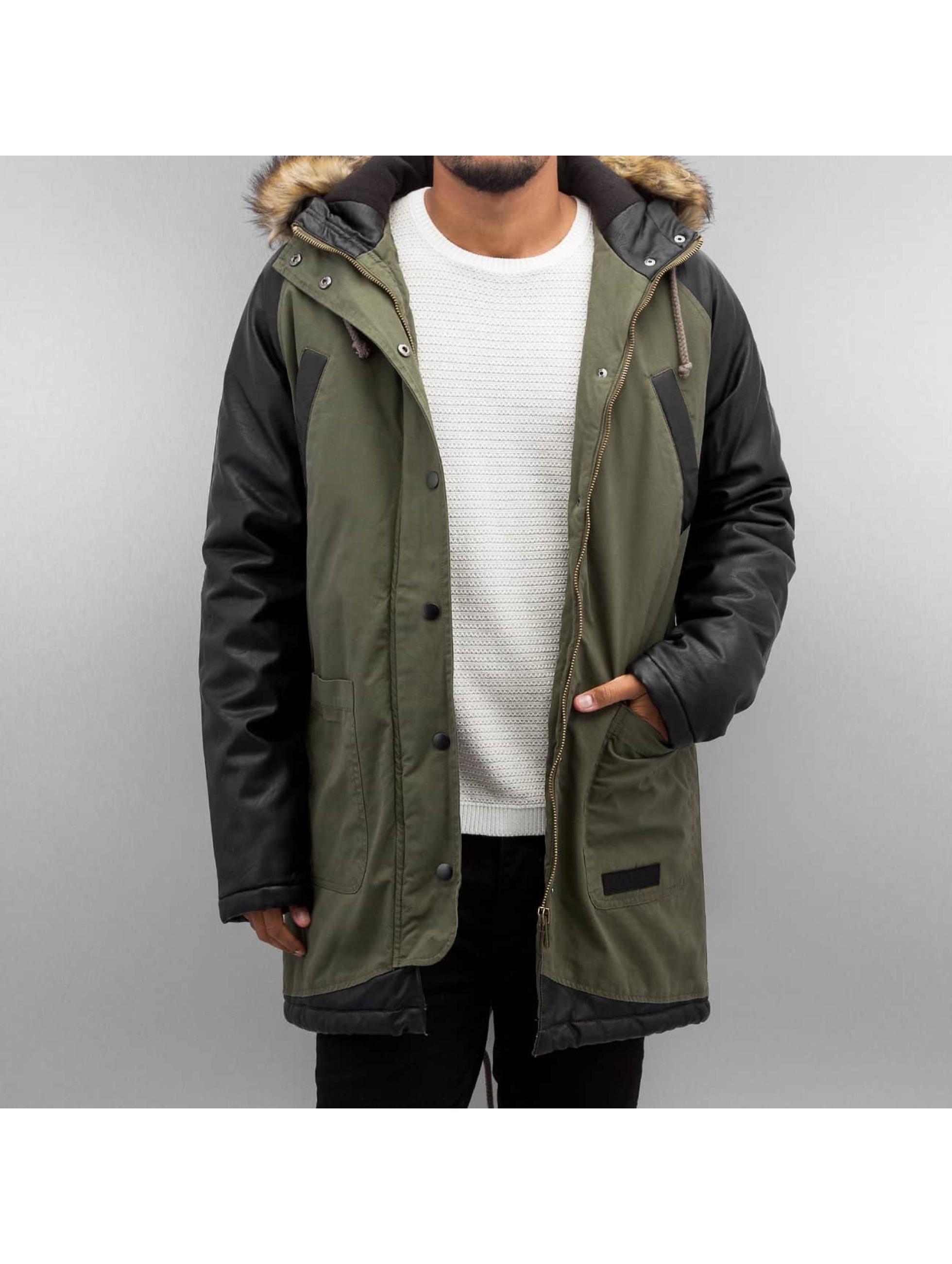 Bangastic Пальто PU Sleeves зеленый
