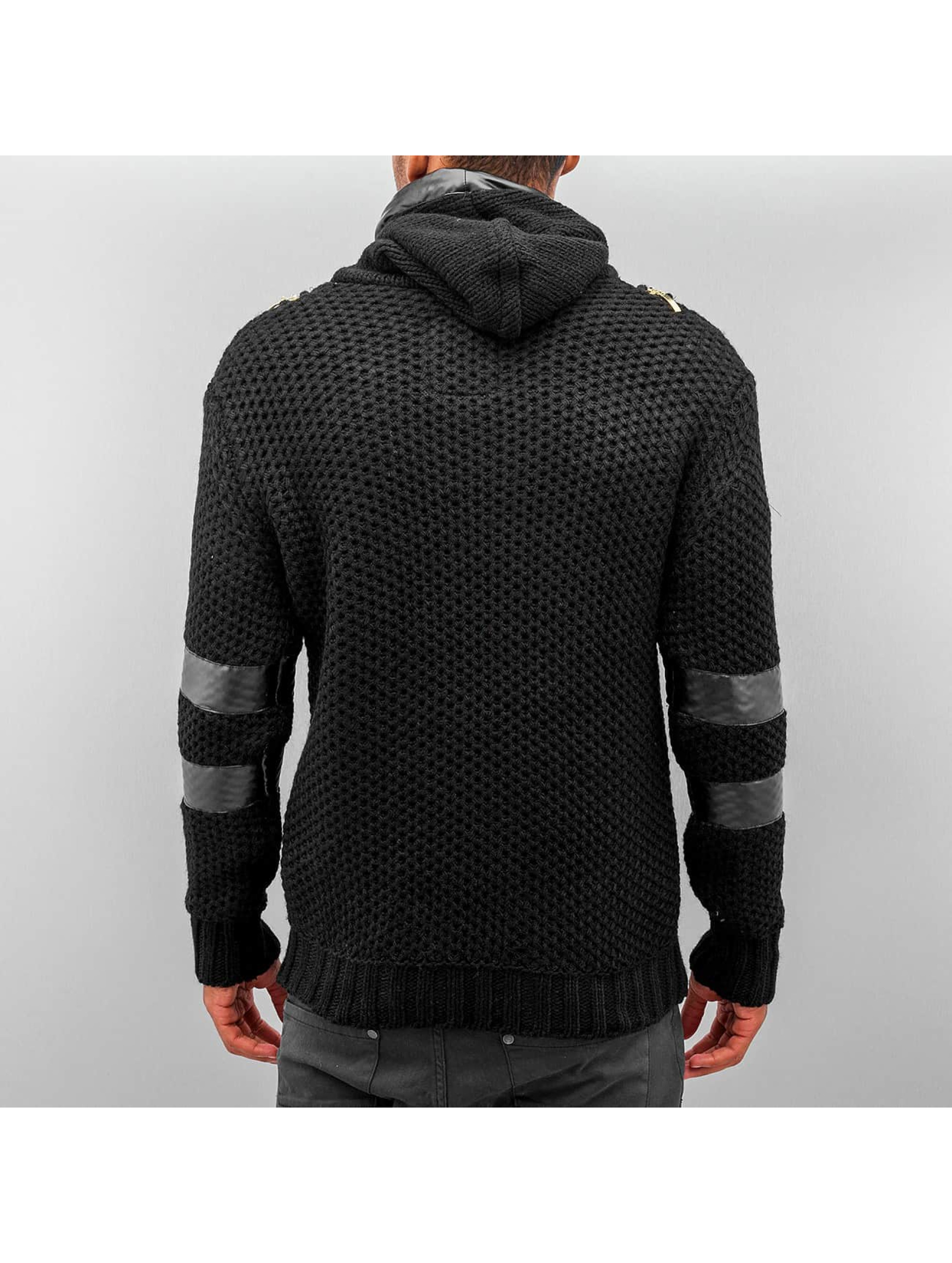 Bangastic Hoody Knitted Force schwarz
