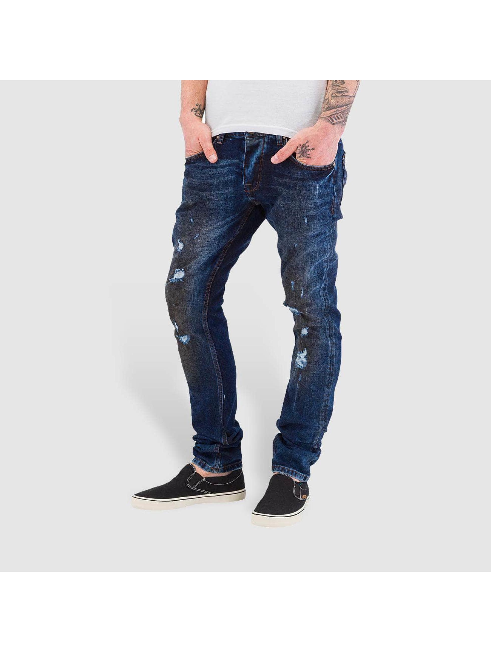Bangastic Jean coupe droite Dirty bleu