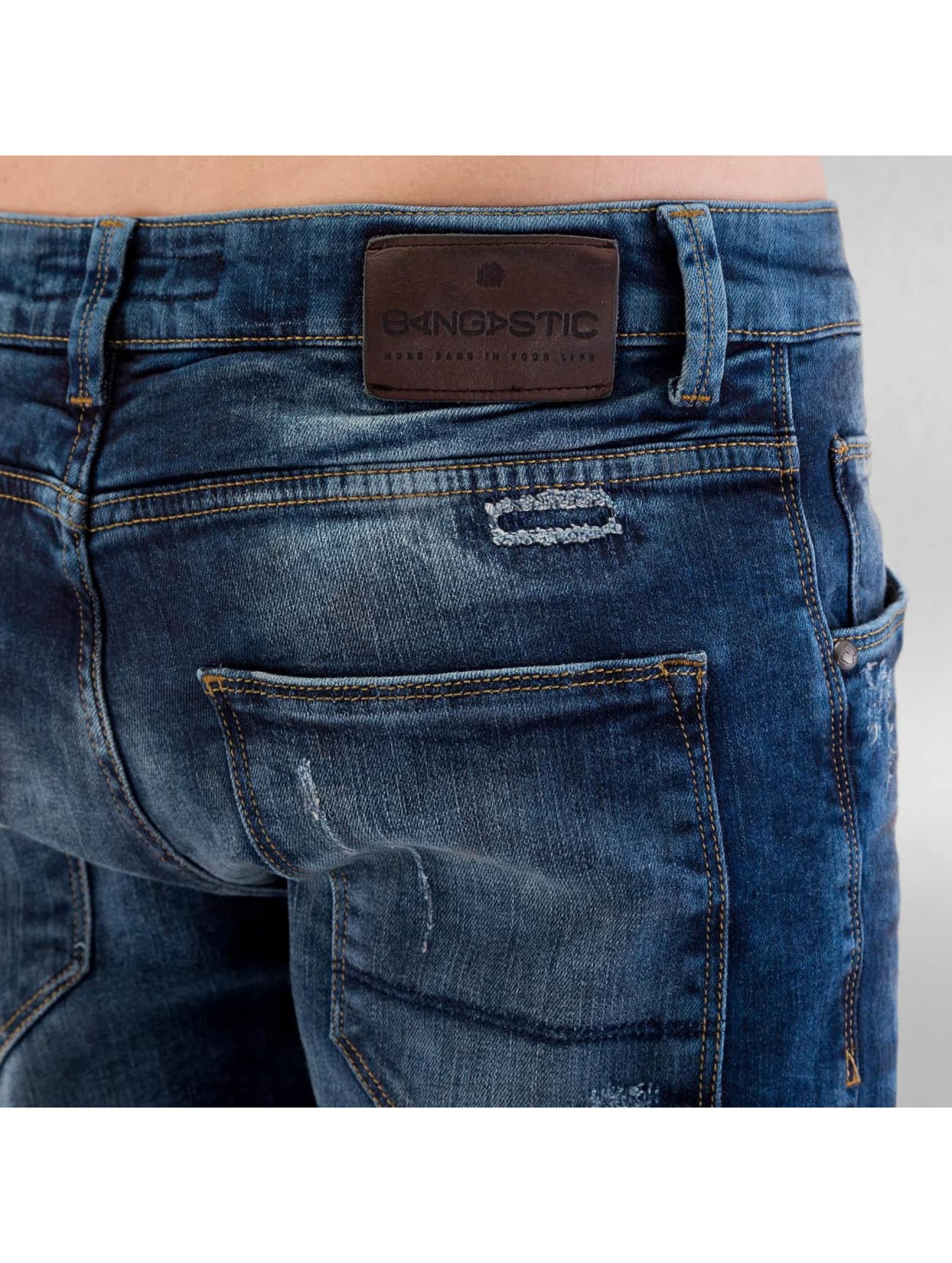 Bangastic Jean coupe droite Trop bleu