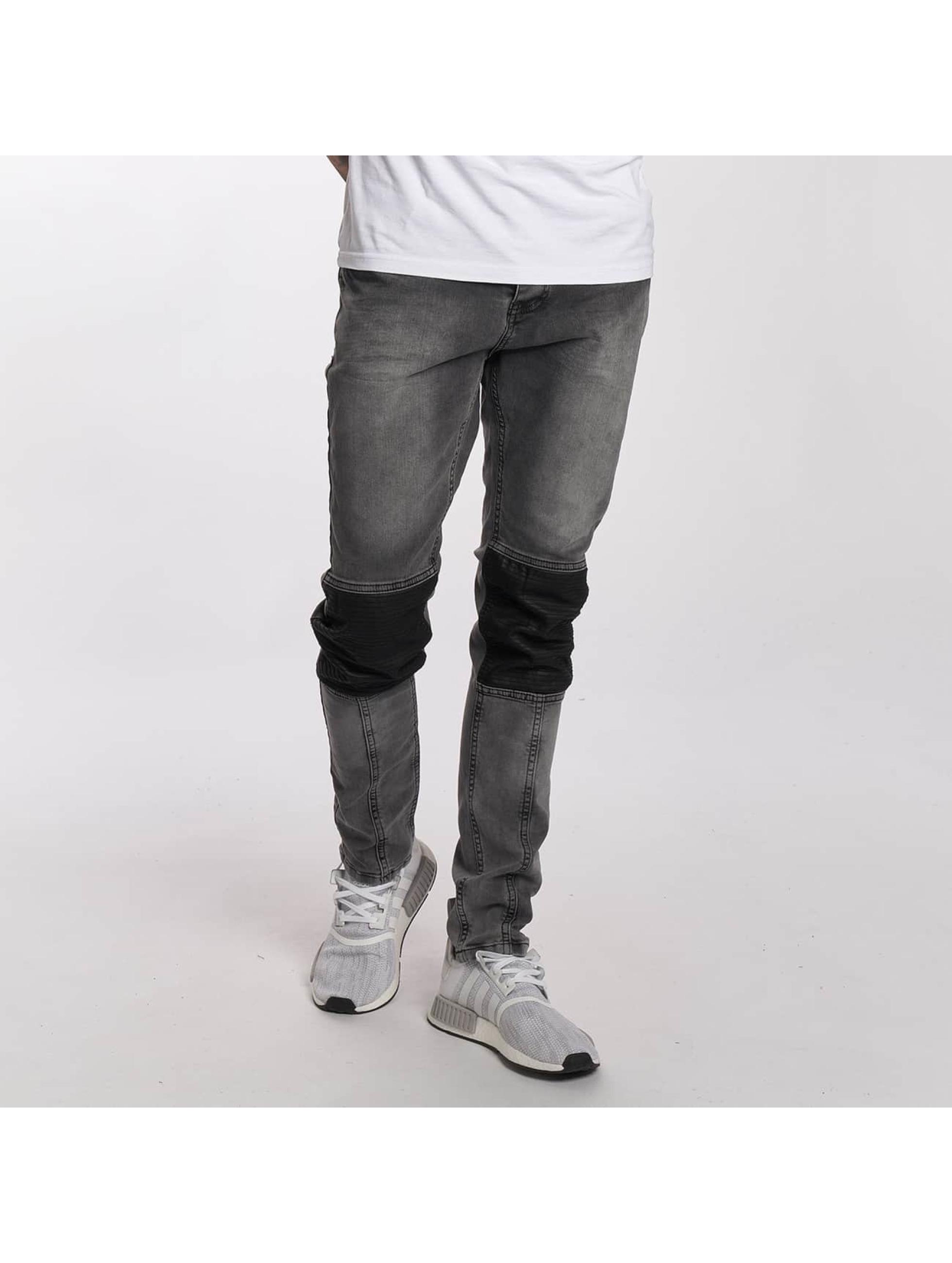 Bangastic Jean coupe droite PU gris