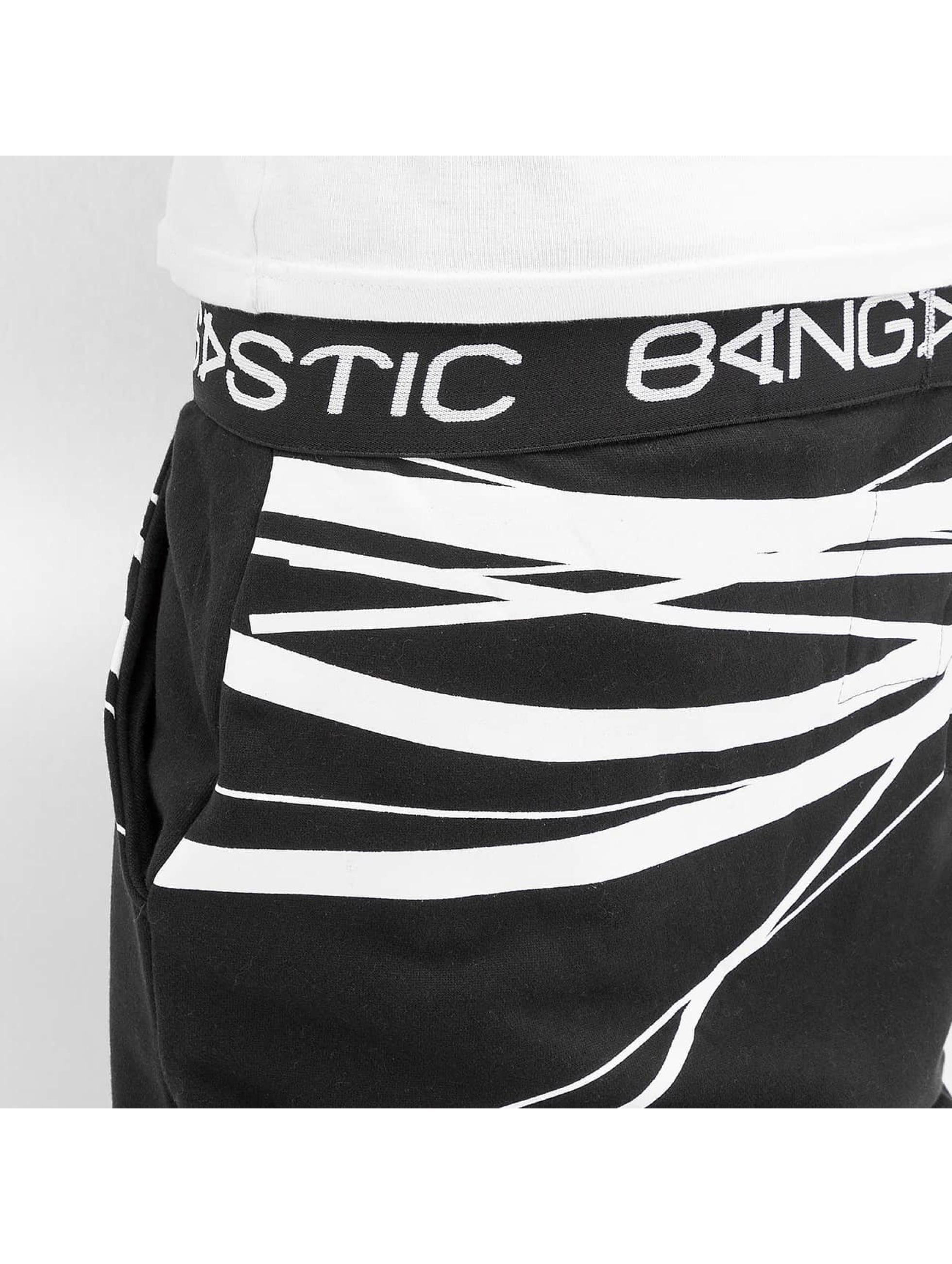 Bangastic joggingbroek WhiteStripes zwart