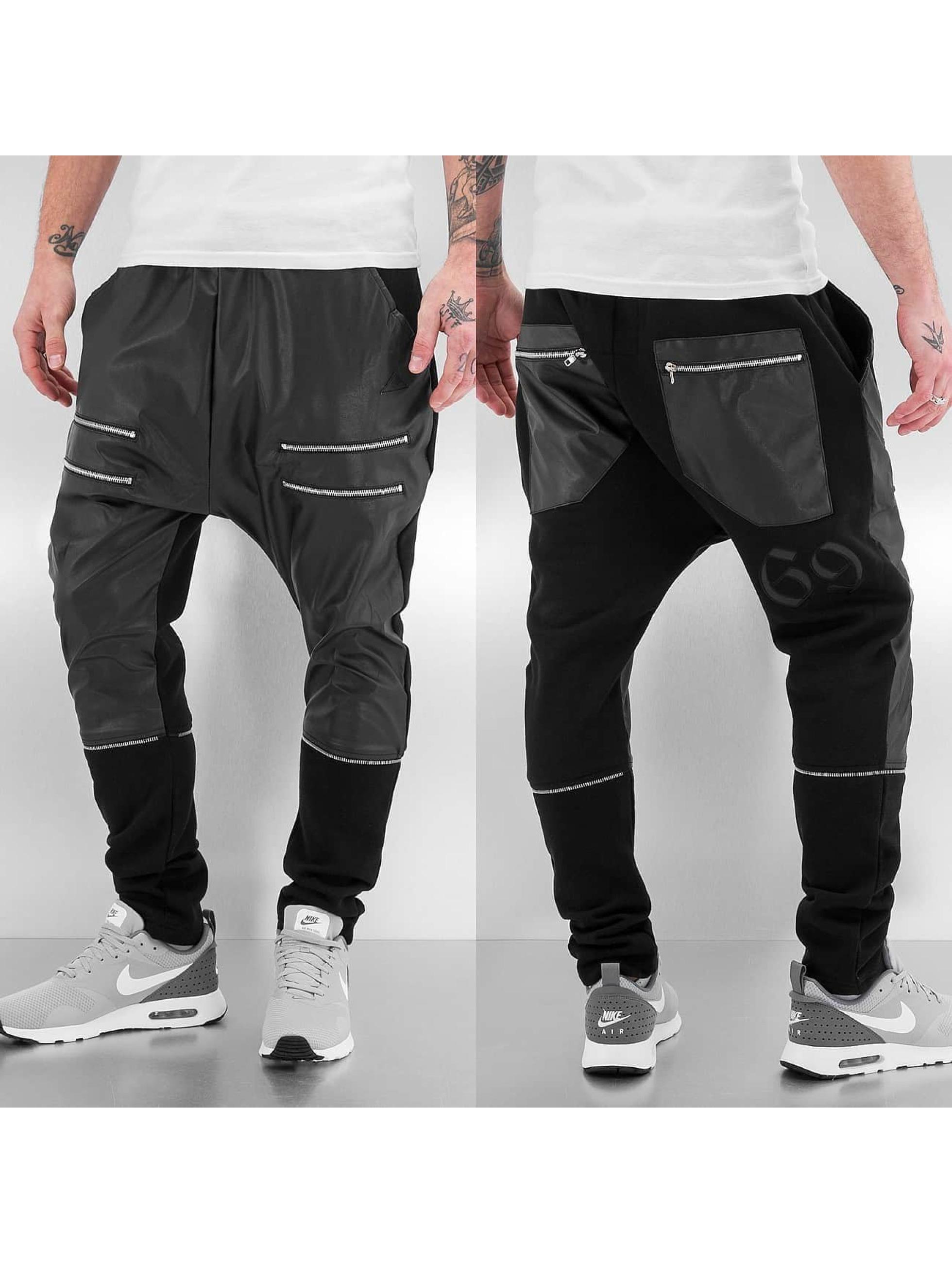 Bangastic joggingbroek Zip Leather zwart