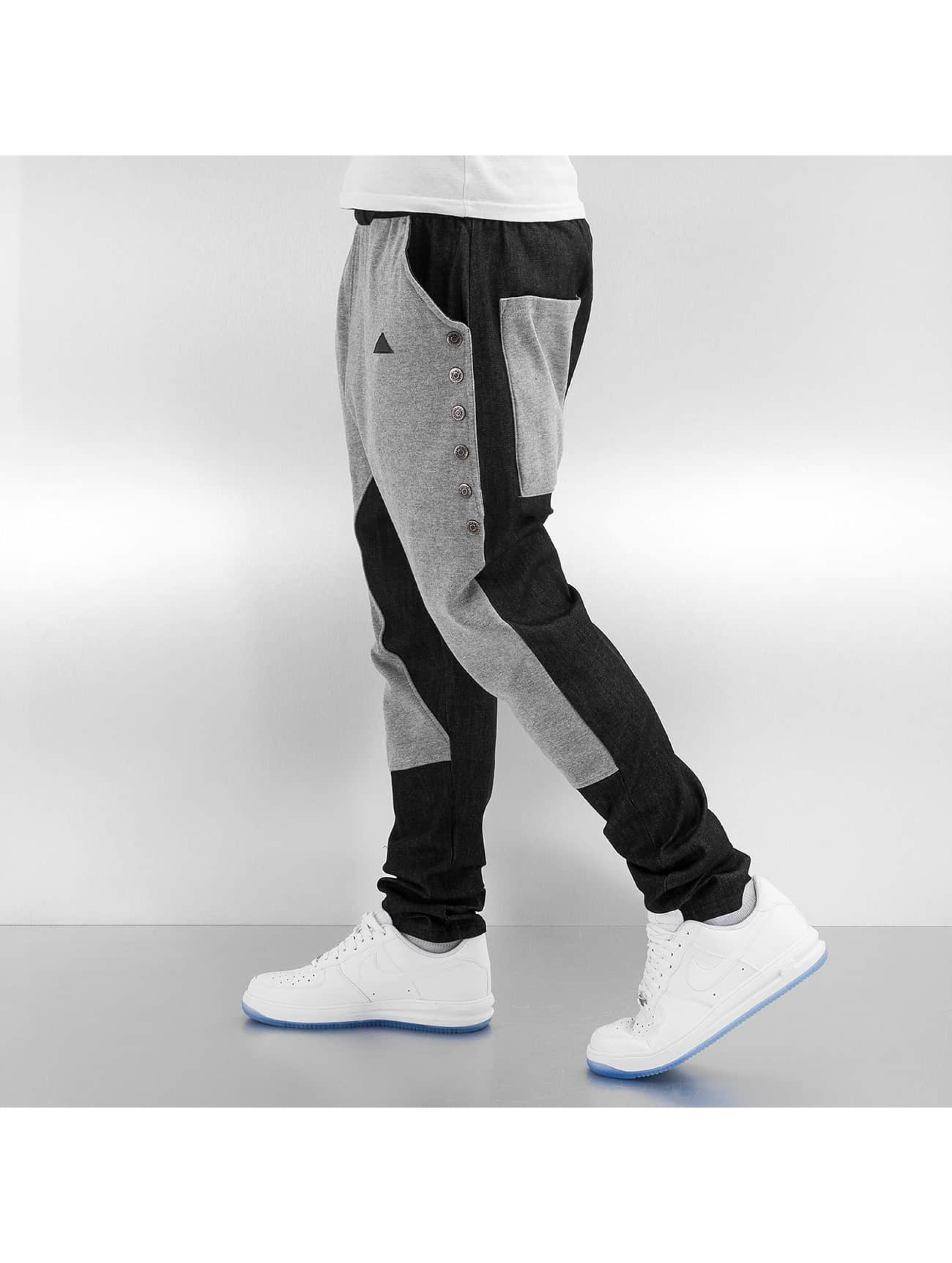 Bangastic Jogginghose Button grau