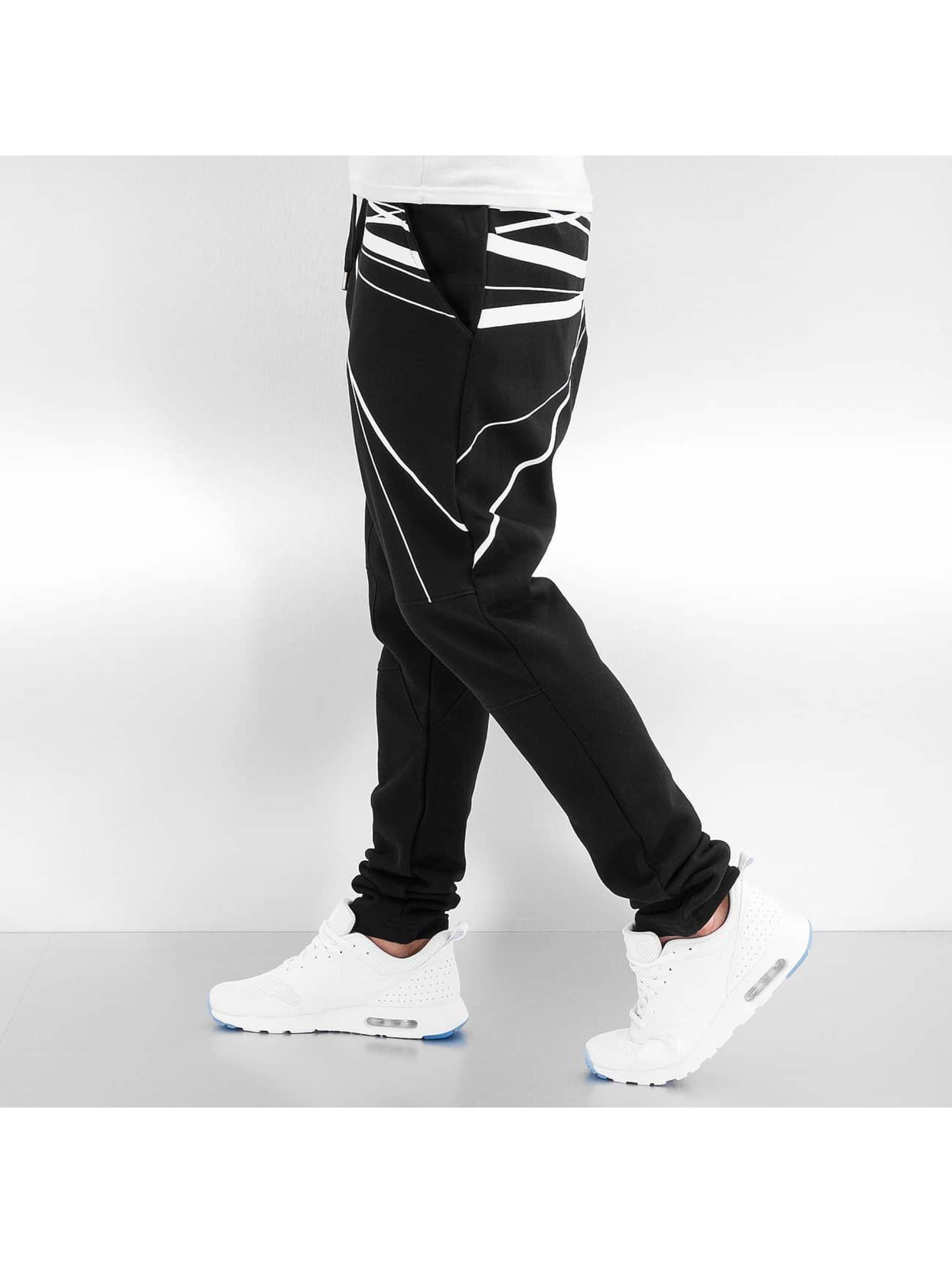 Bangastic Jogginghose WhiteStripes schwarz