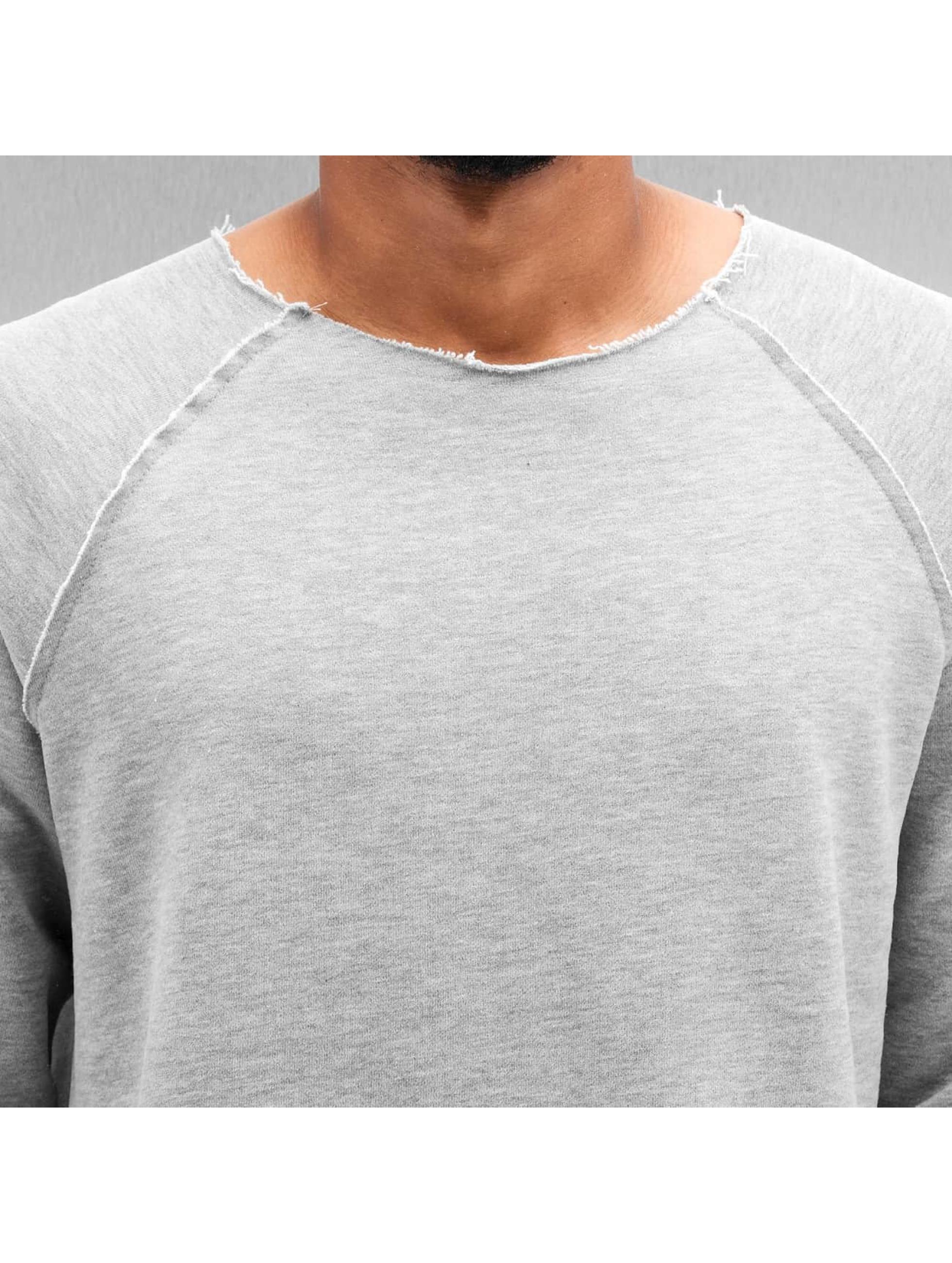 Bangastic Pullover Unfinished Hems grau