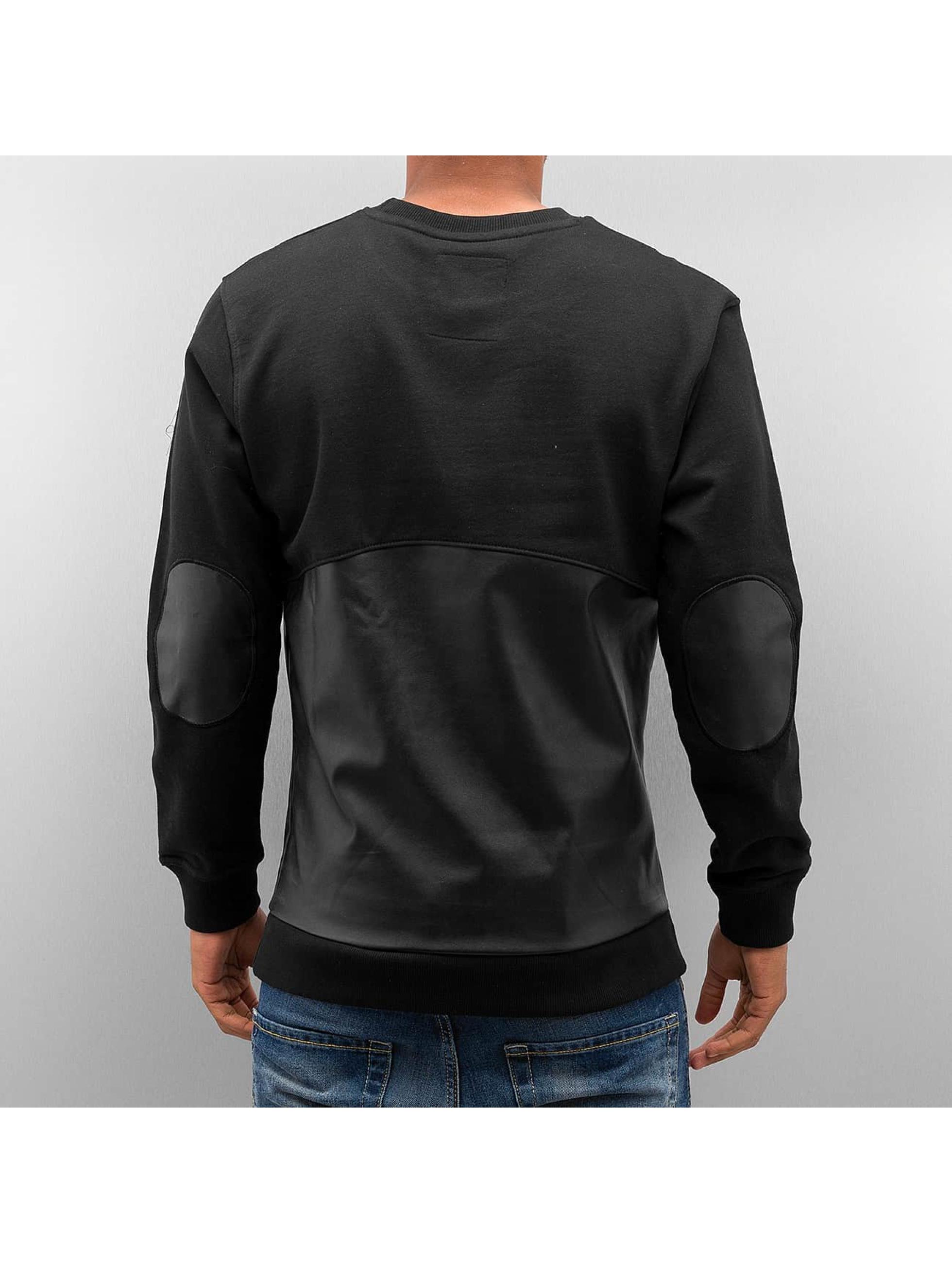 Bangastic Pullover PU Leather schwarz