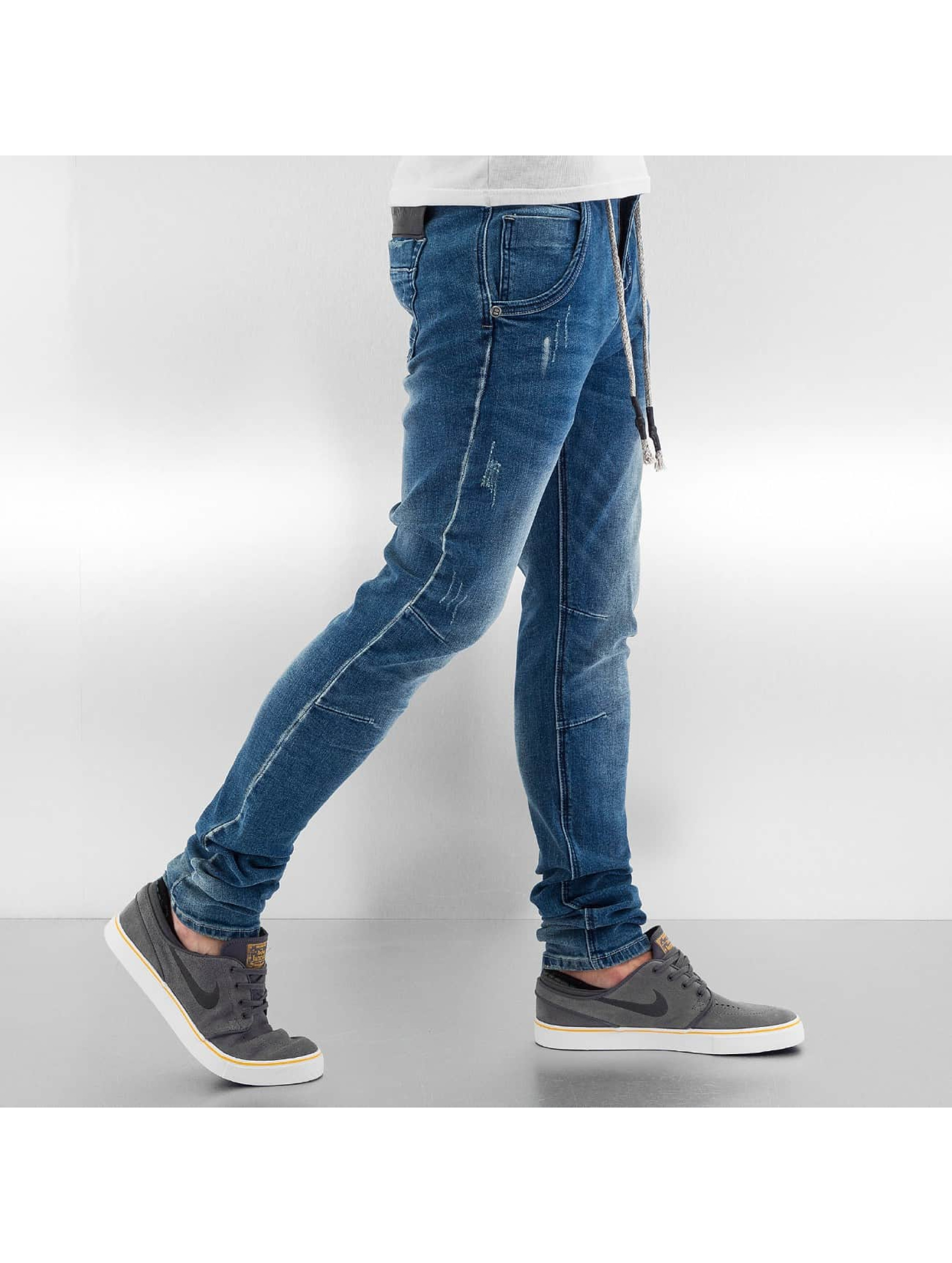 Bangastic Skinny Jeans Drawstring Anti Fit blau