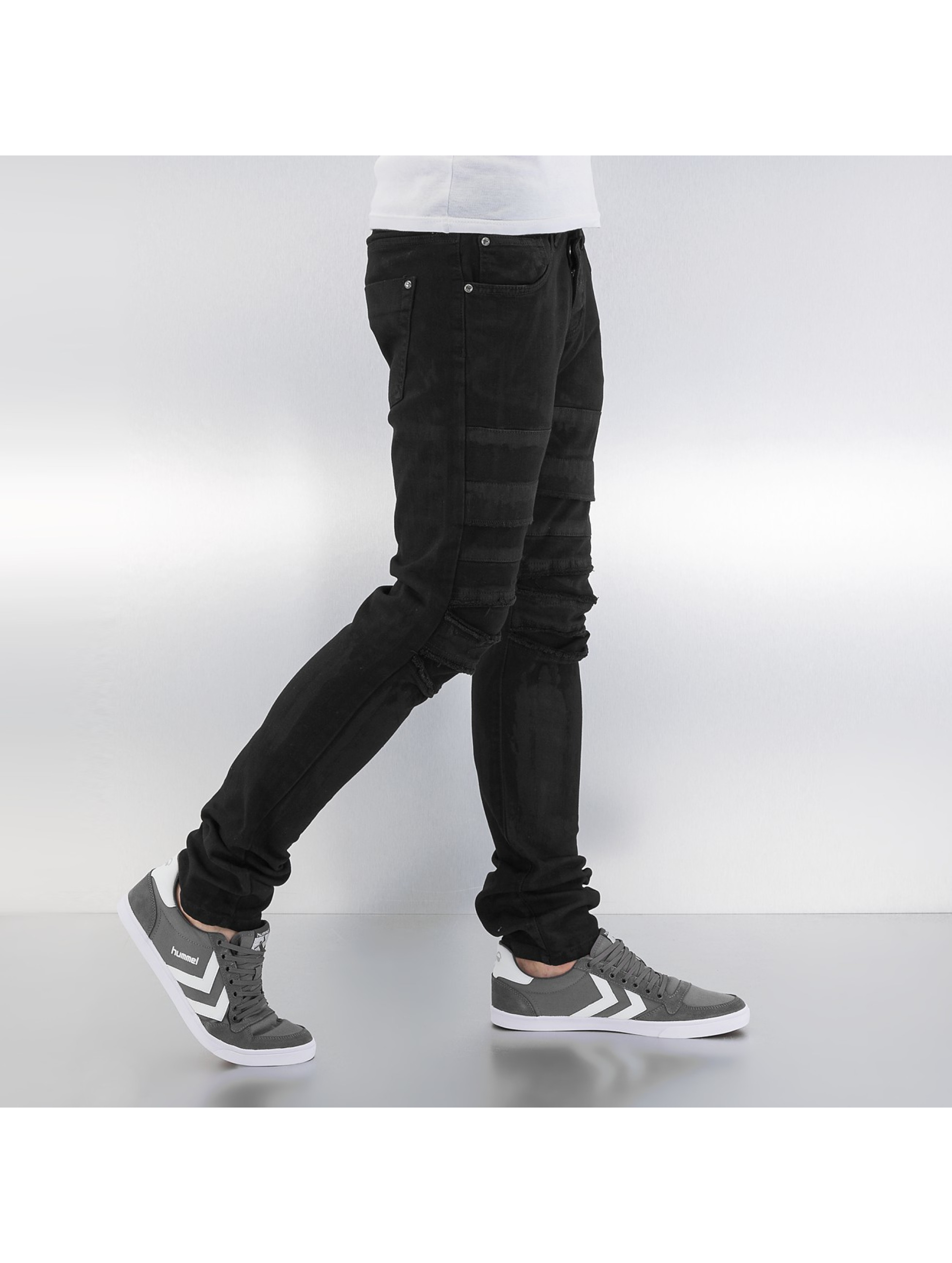 Bangastic Skinny jeans Printed zwart