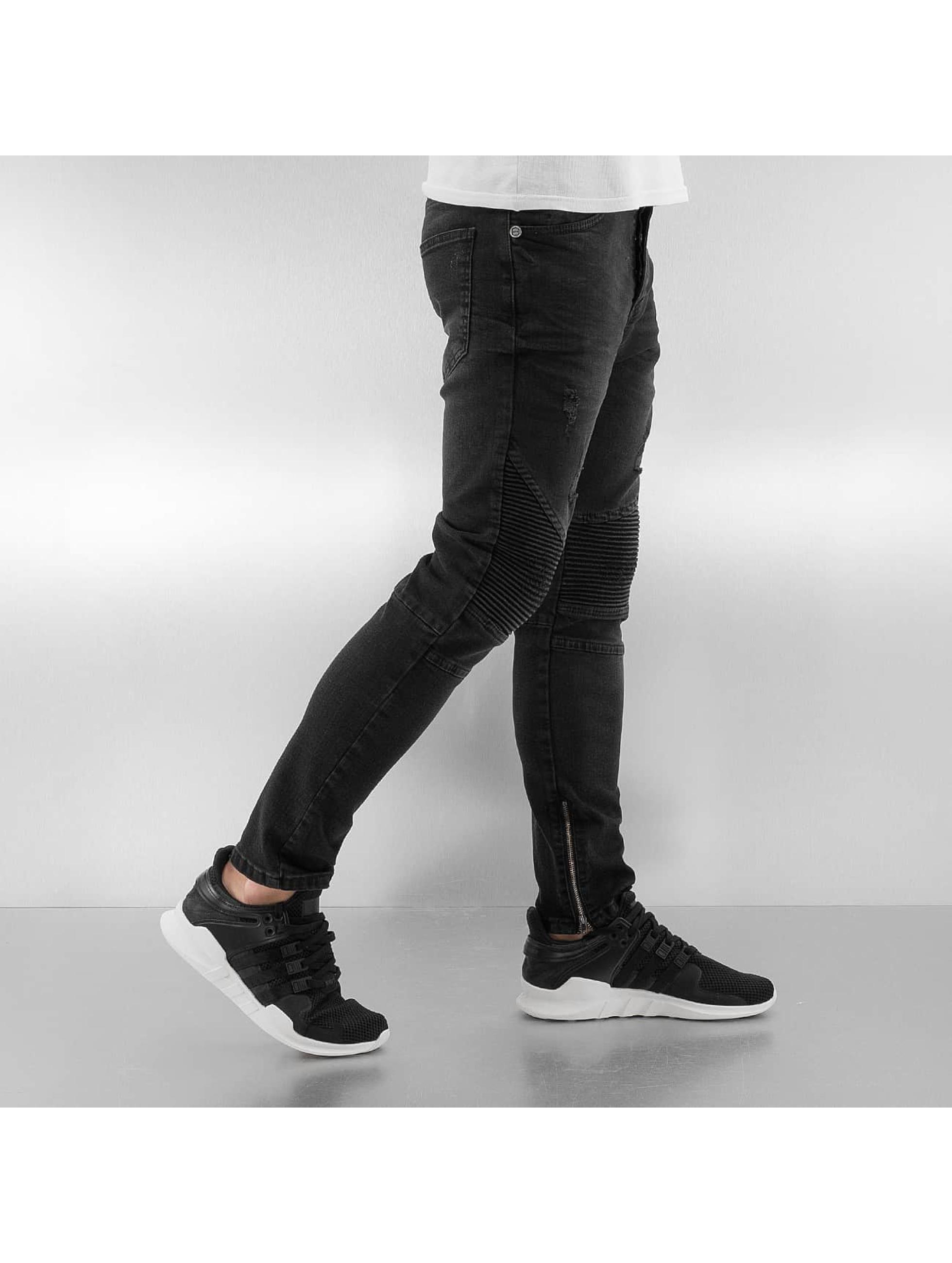 Bangastic Slim Fit Jeans Quilted II èierna