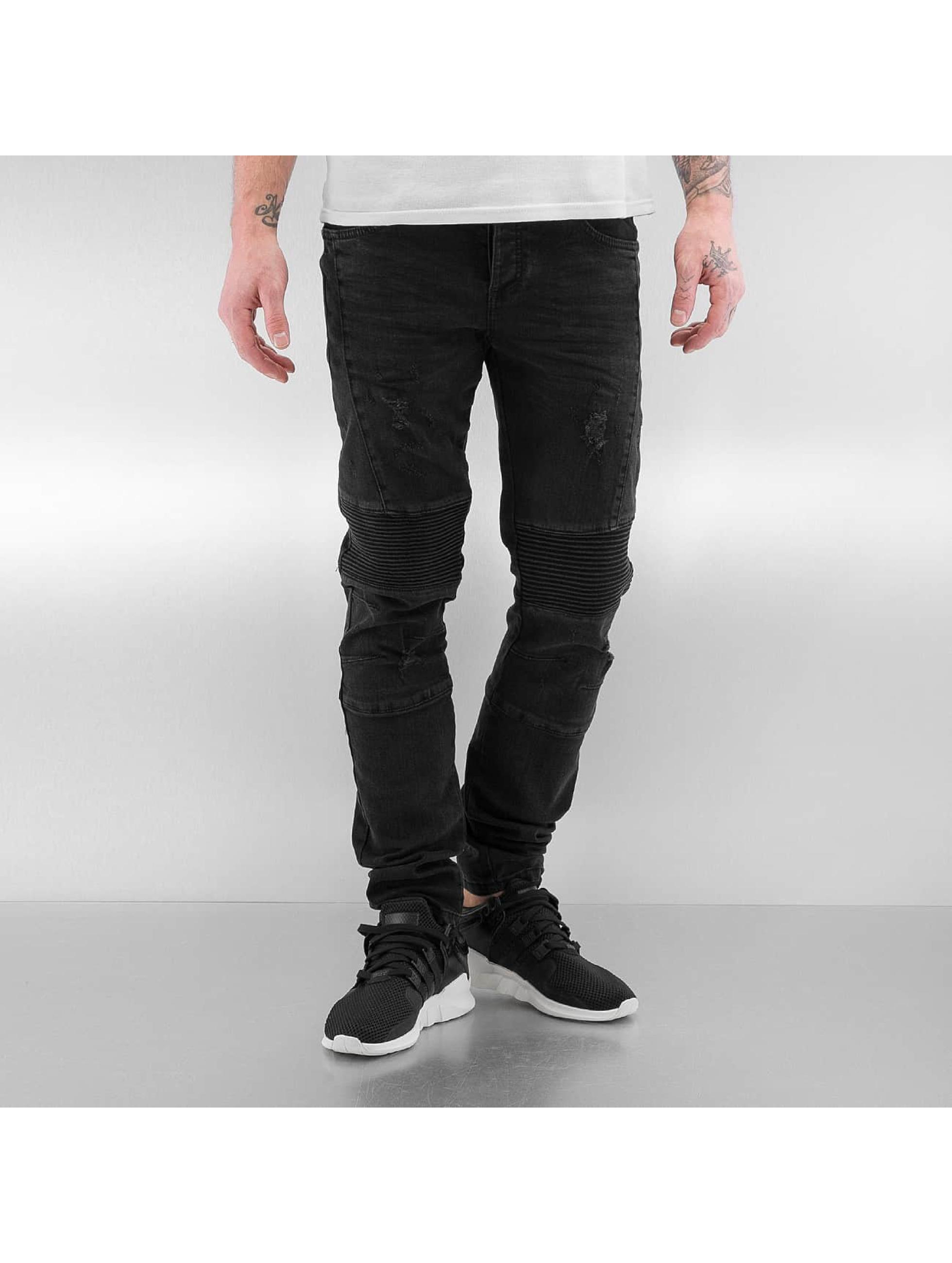 Bangastic Slim Fit Jeans Quilted III èierna