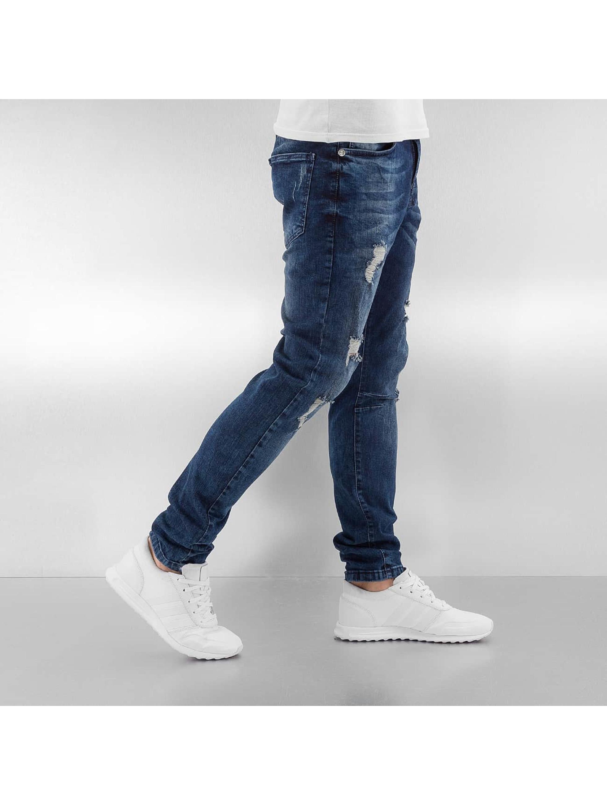 Bangastic Slim Fit Jeans Lumo modrá
