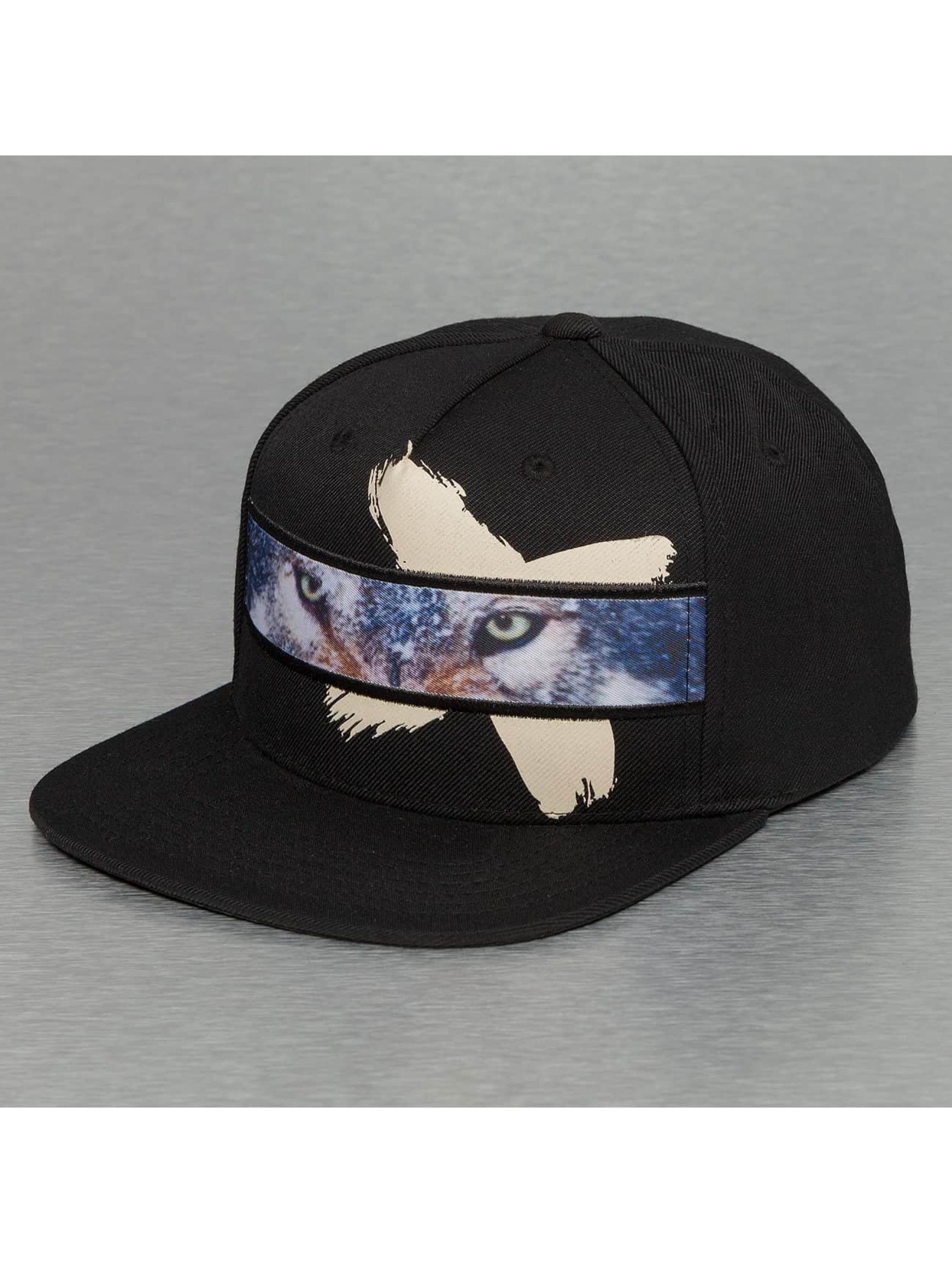 Bangastic snapback cap Wolf zwart