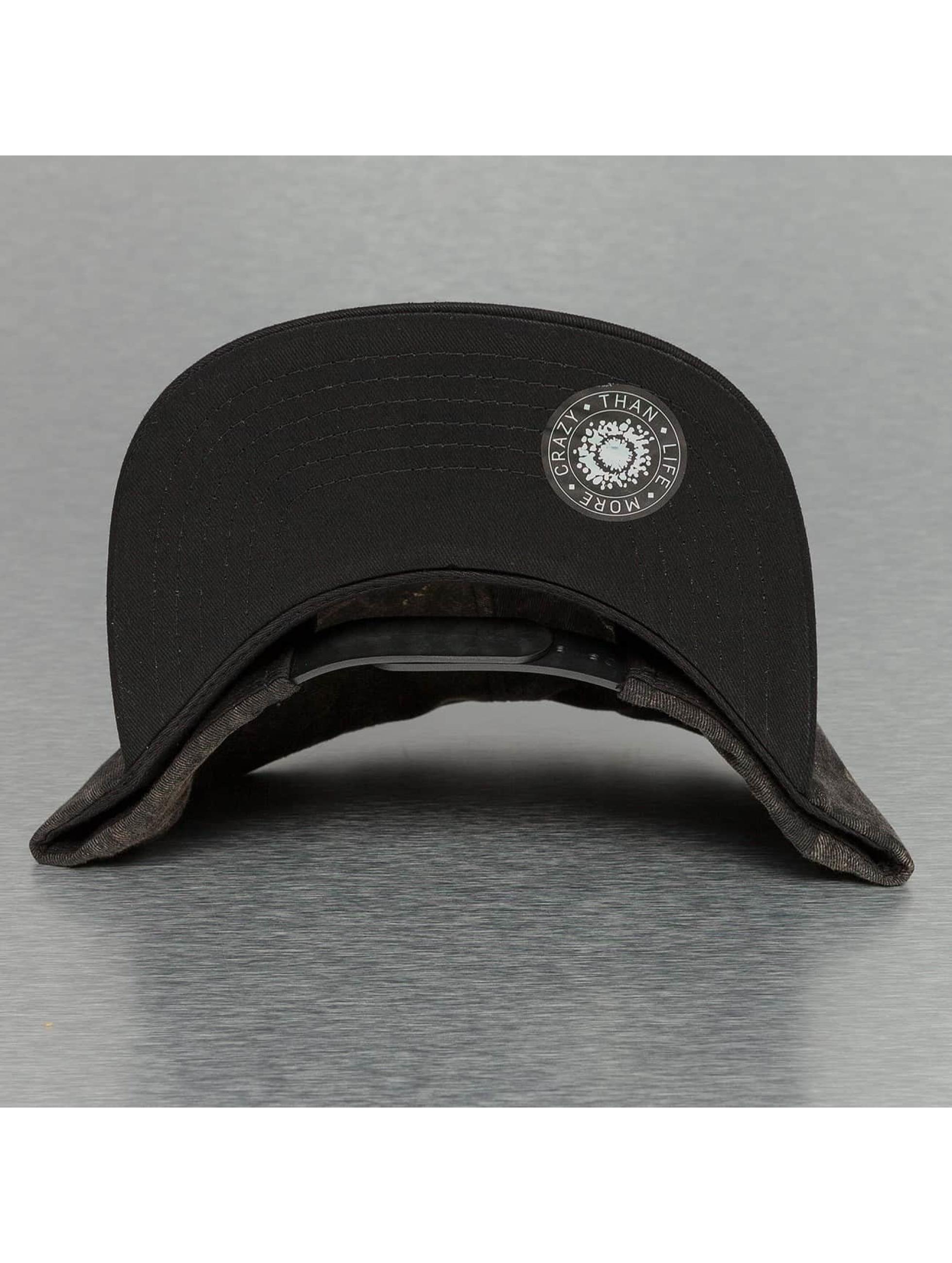 Bangastic snapback cap Acid Wash zwart