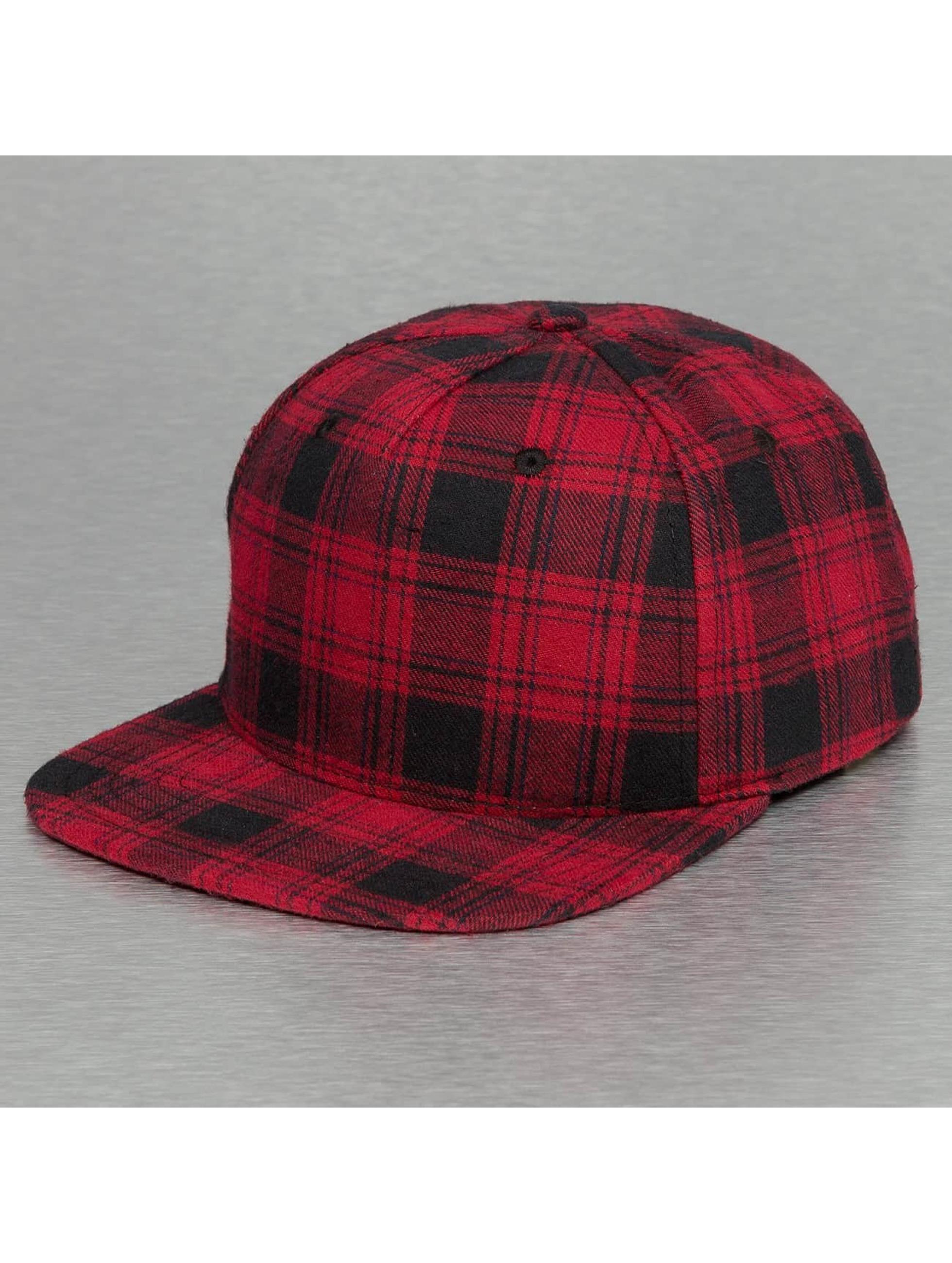 Bangastic Snapback Caps Checked czerwony