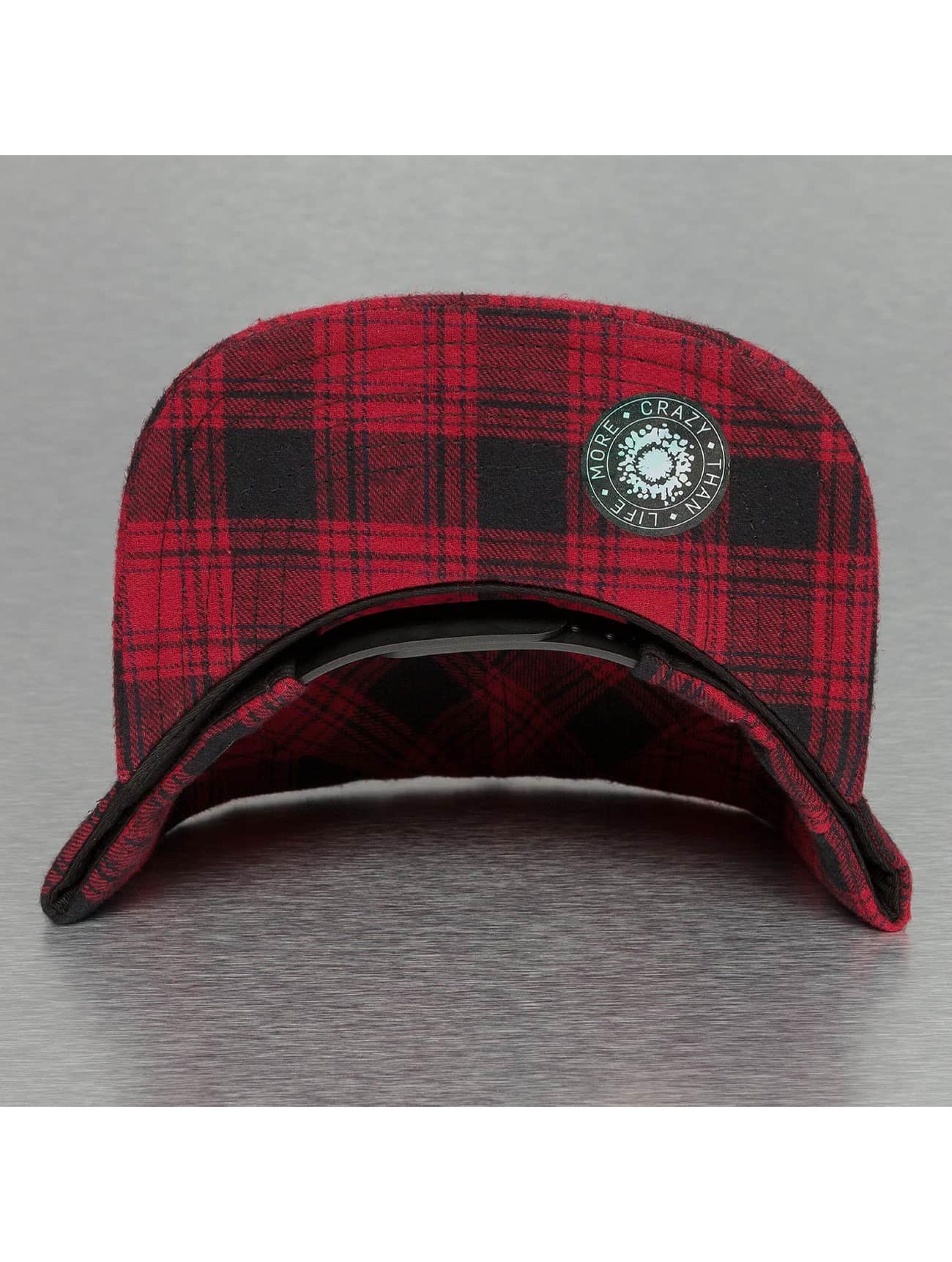 Bangastic Snapback Caps Checked punainen