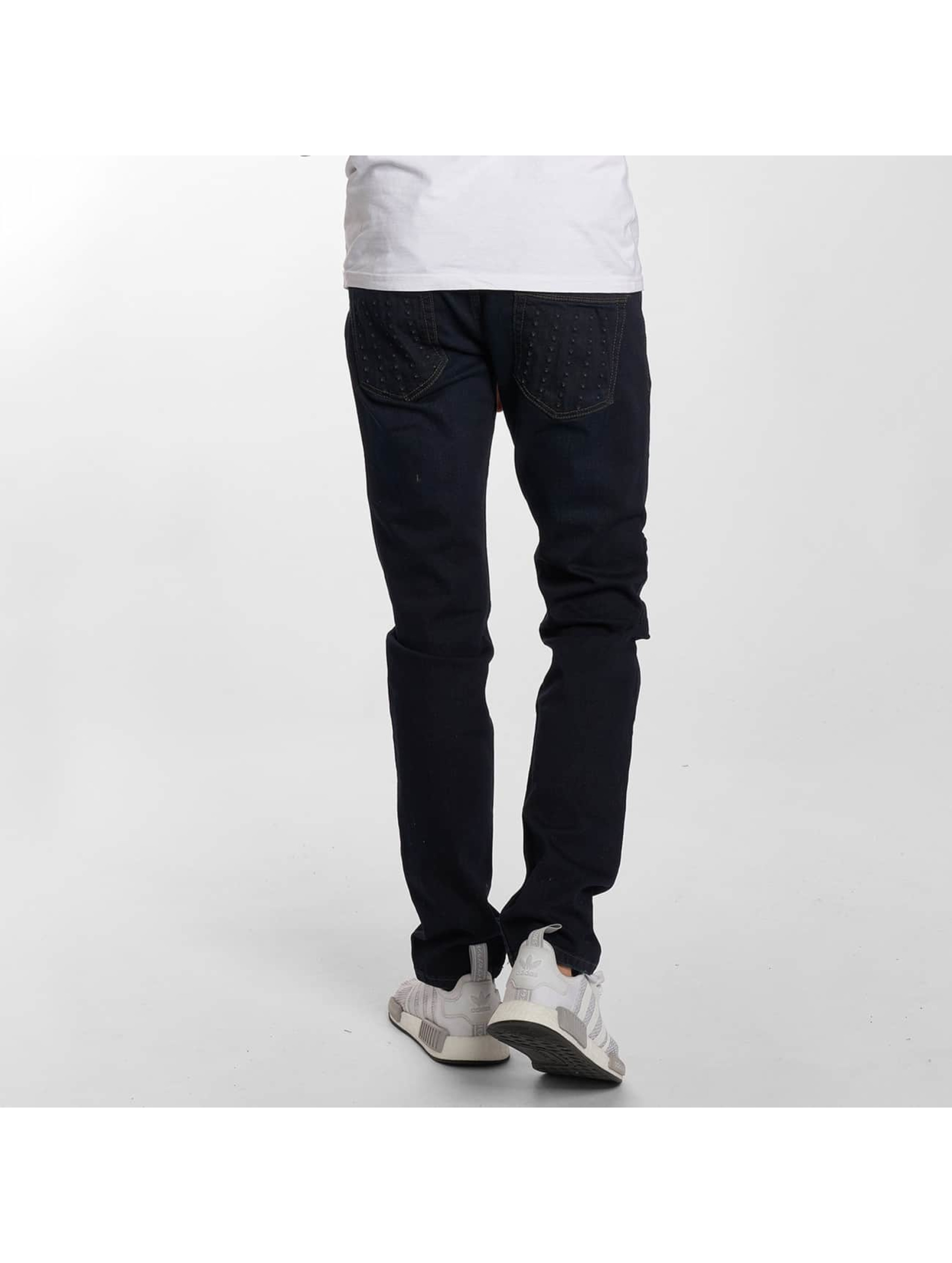 Bangastic Straight fit jeans Skull blauw