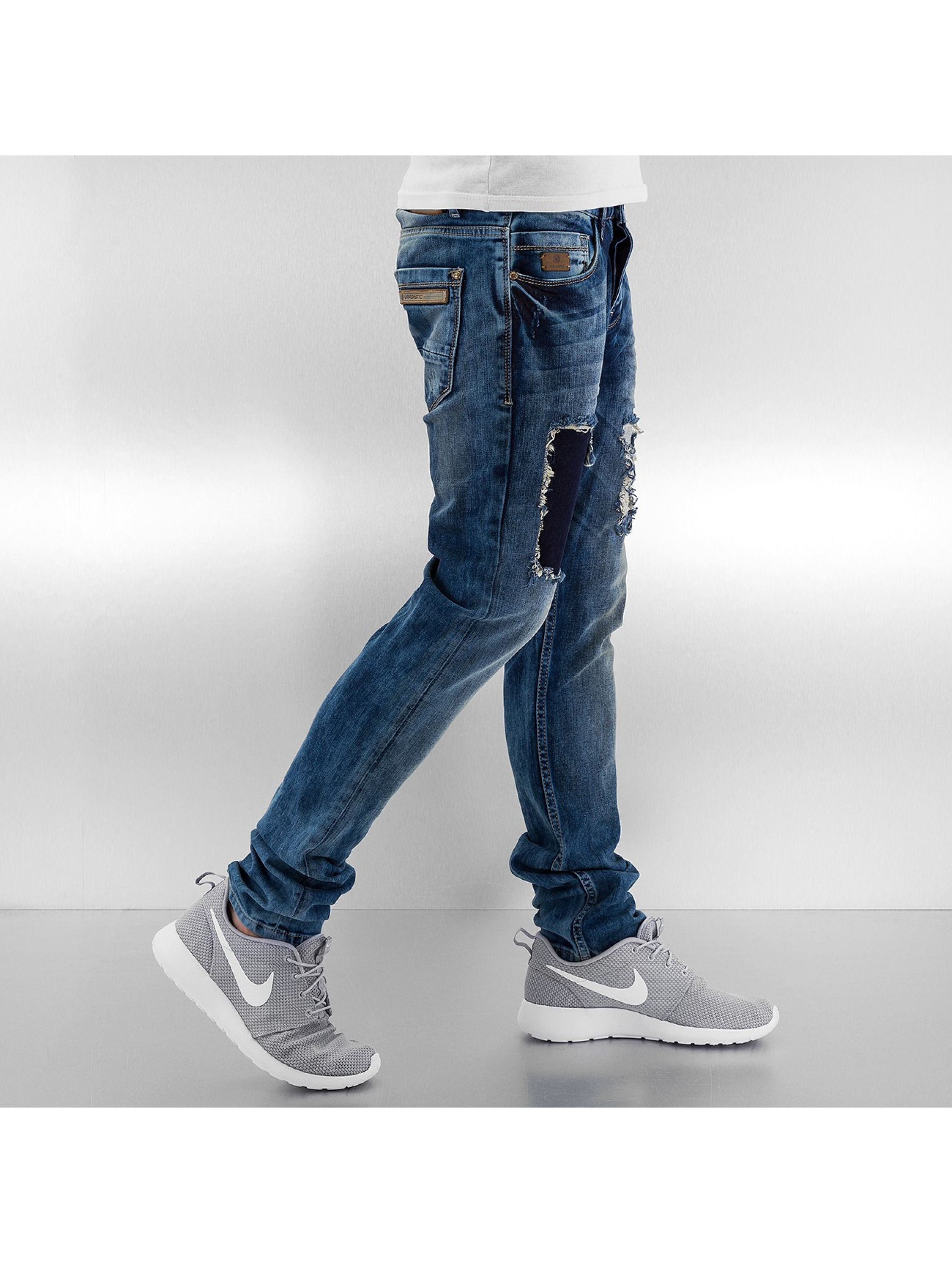Bangastic Straight fit jeans Washed blauw
