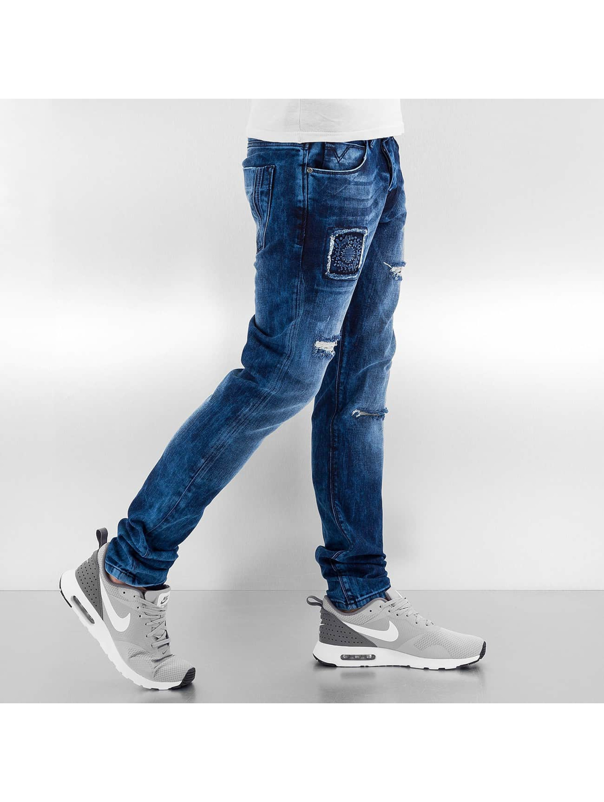 Bangastic Straight fit jeans Kush blauw