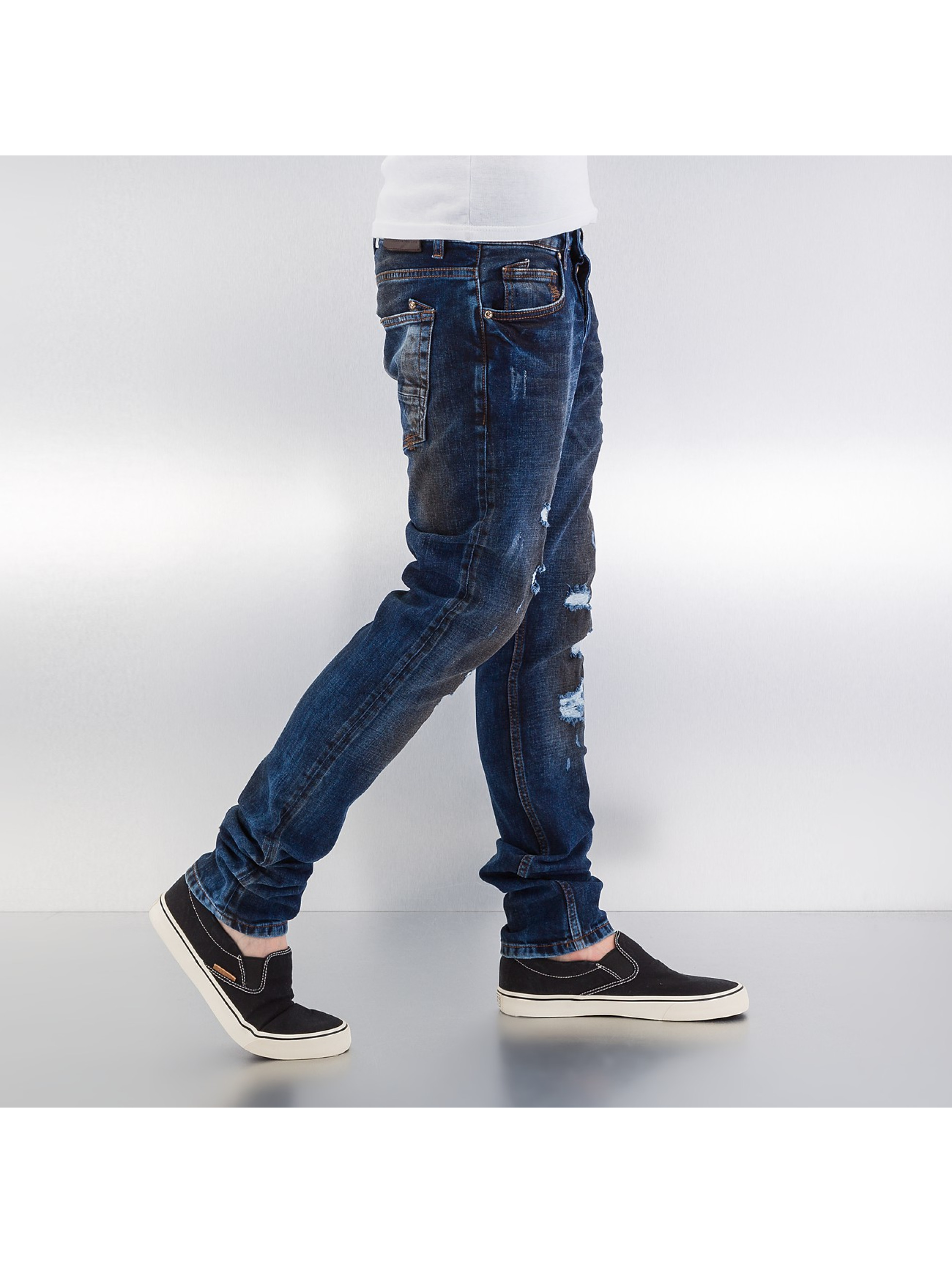 Bangastic Straight fit jeans Dirty blauw