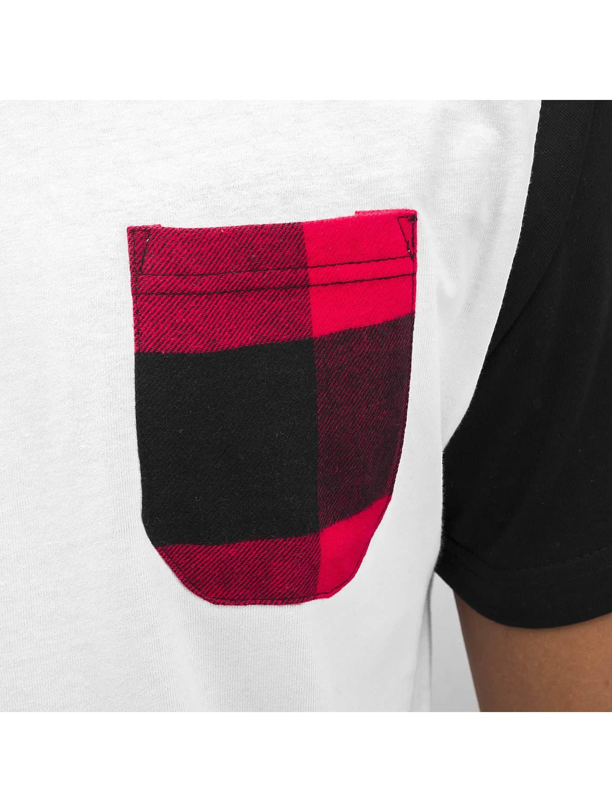 Bangastic T-Shirt Plaid blanc