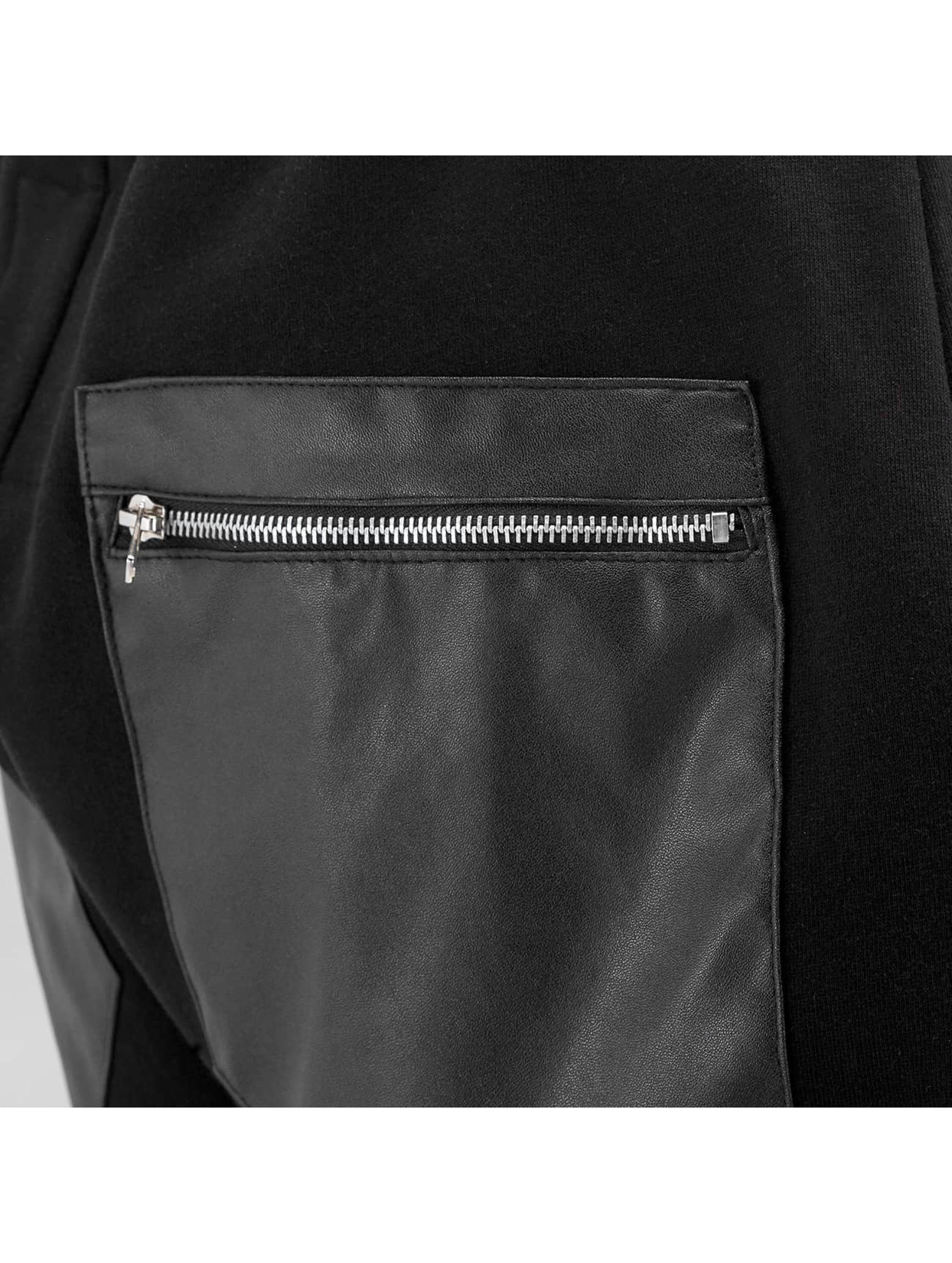 Bangastic Verryttelyhousut Zip Leather musta