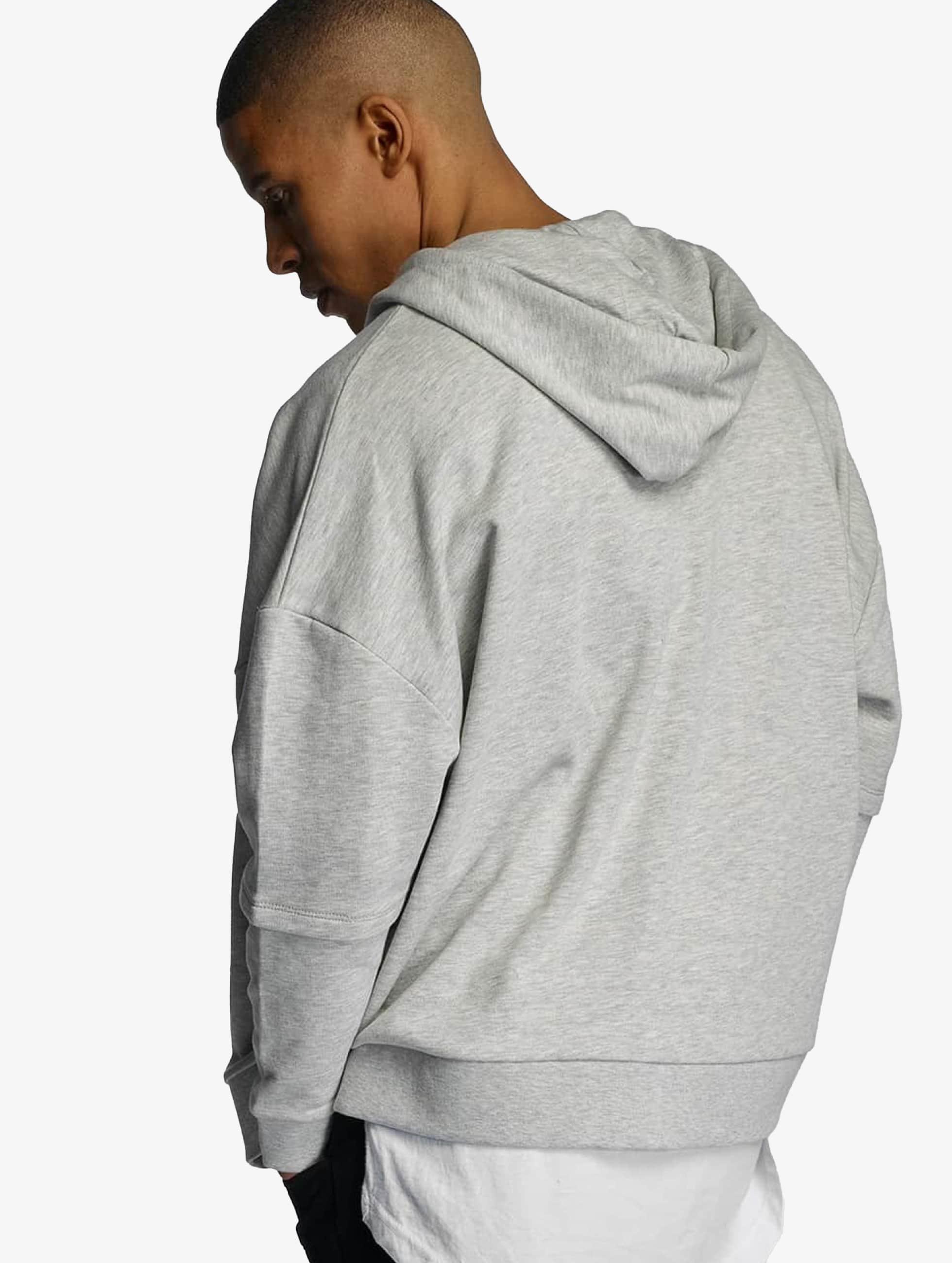 Bangastic Zip Hoodie AE463 Oversize šedá