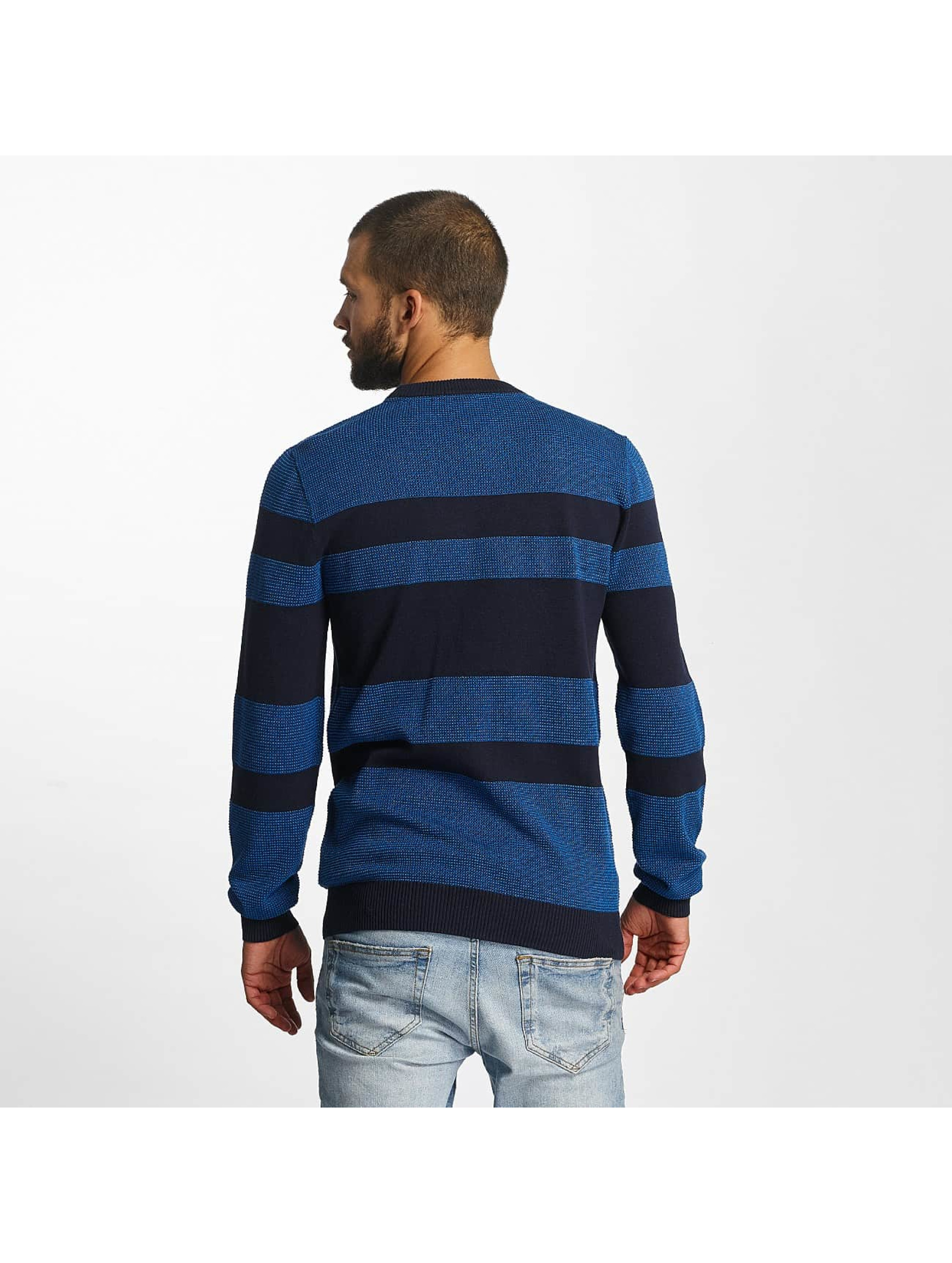 Bench Пуловер Structured Stripe синий