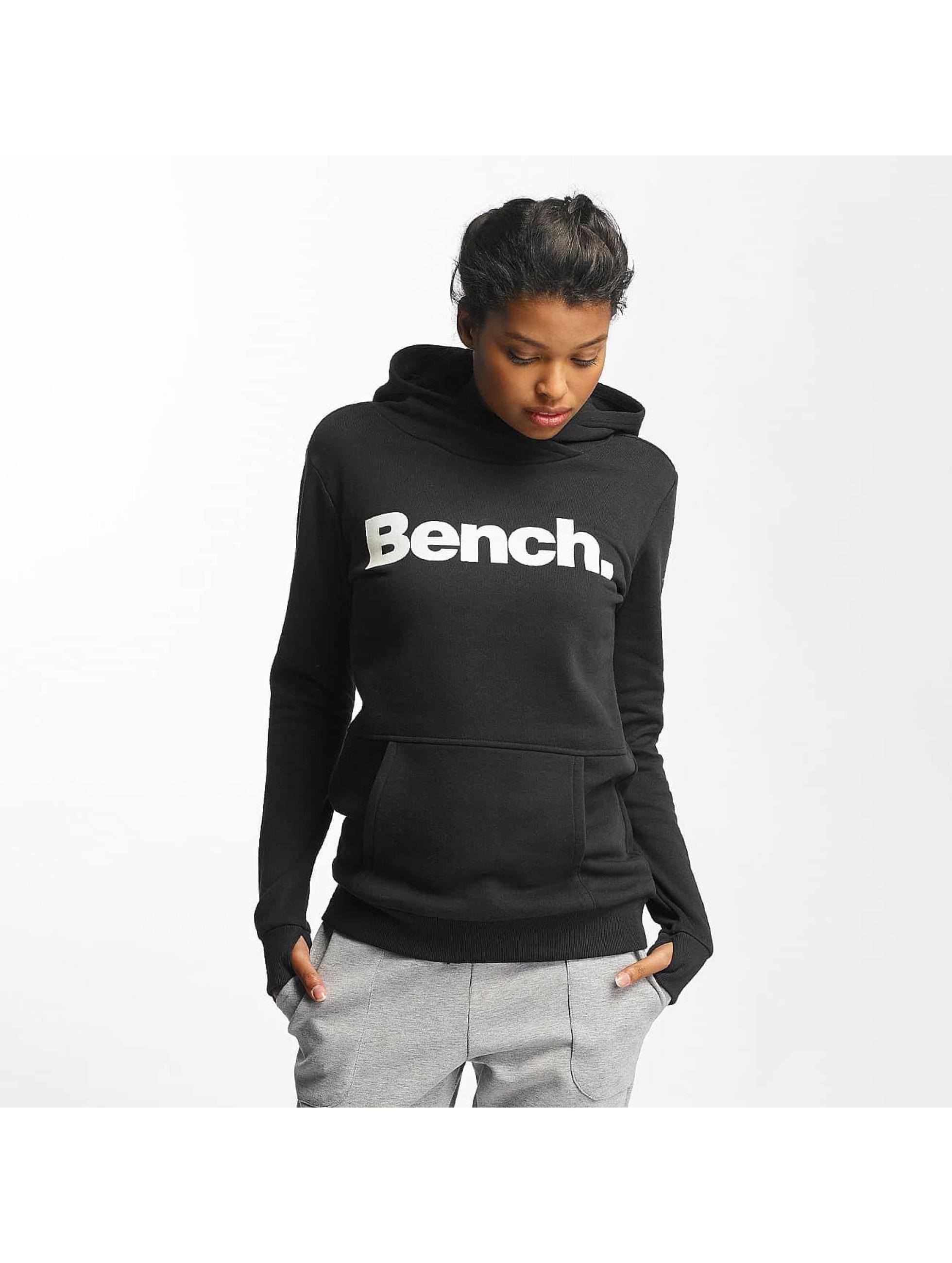 Bench Hoodie Crop Print black