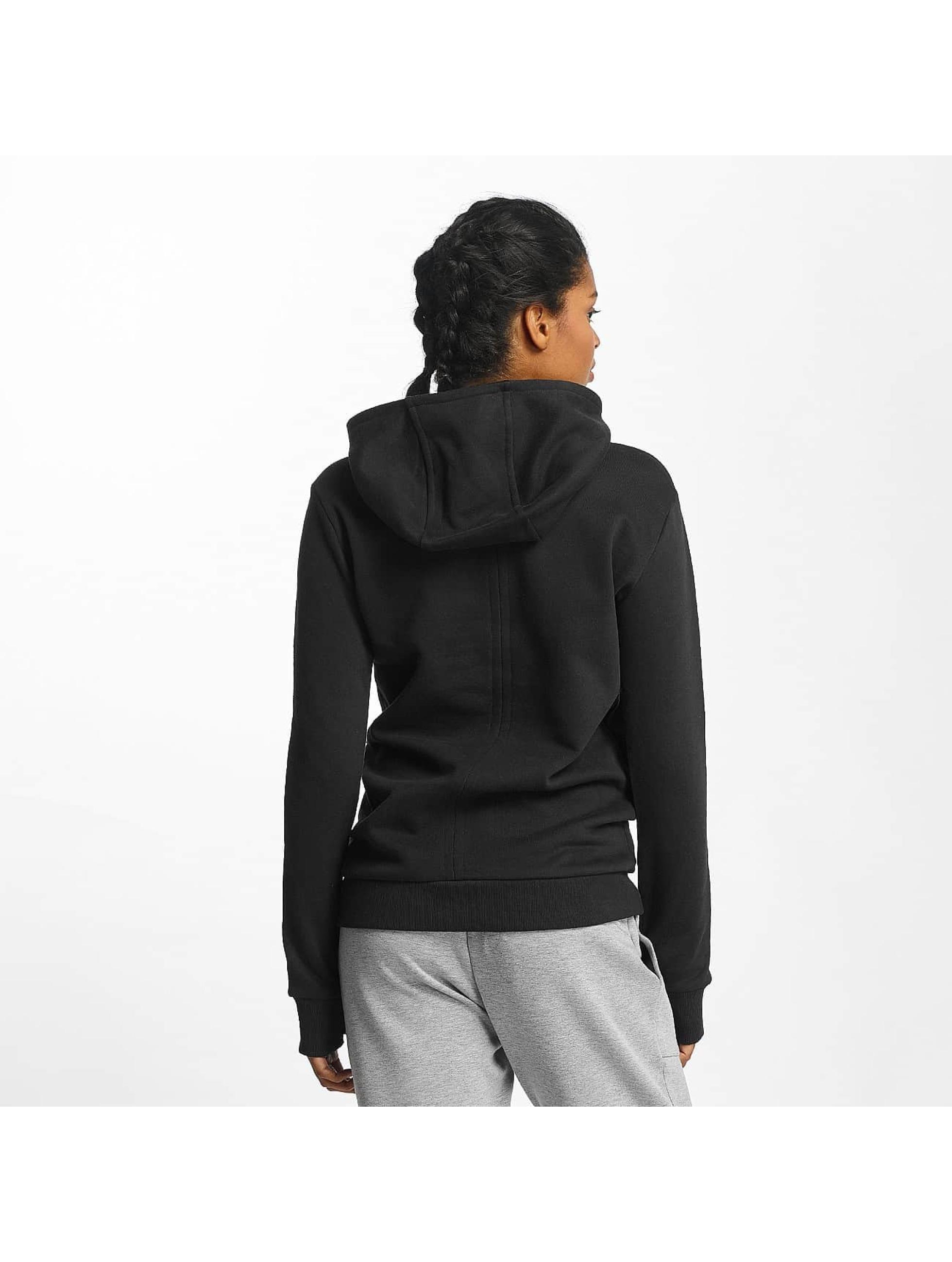 Bench Hoodies Crop Print čern