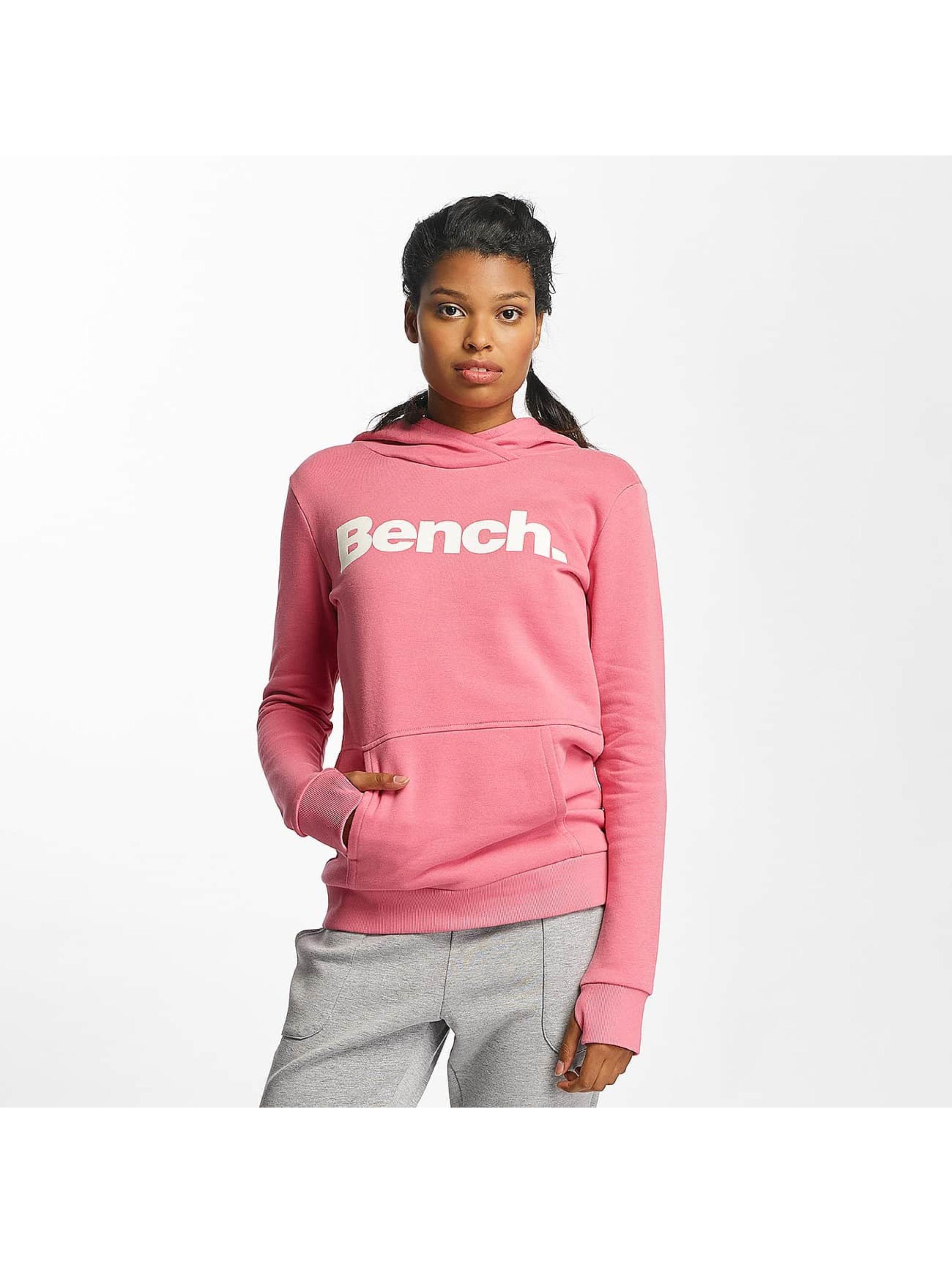 Bench Hoodies Crop Print růžový