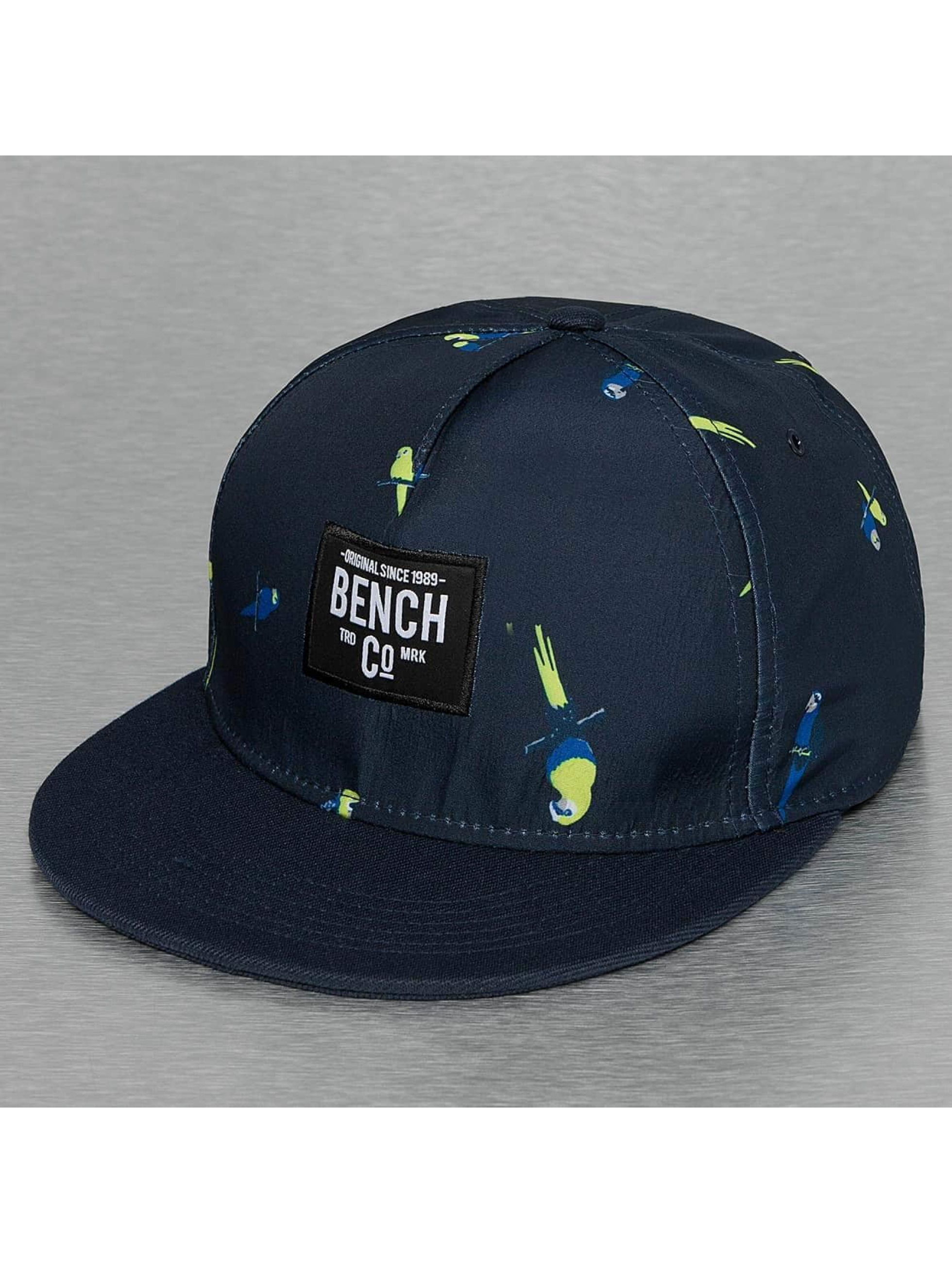 Bench Snapback Parrot Print modrá