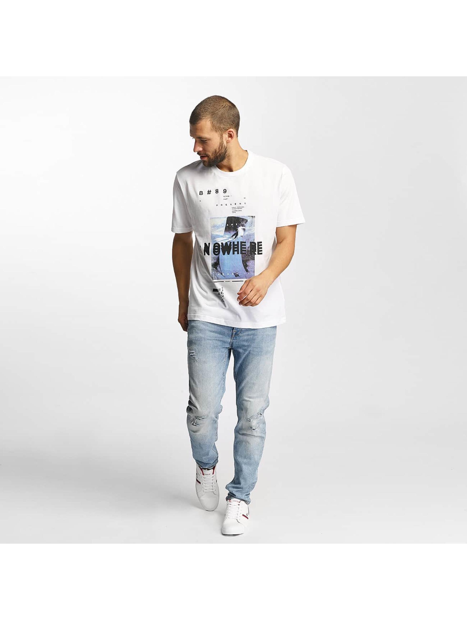 Bench T-shirt Photoprint Graphic bianco