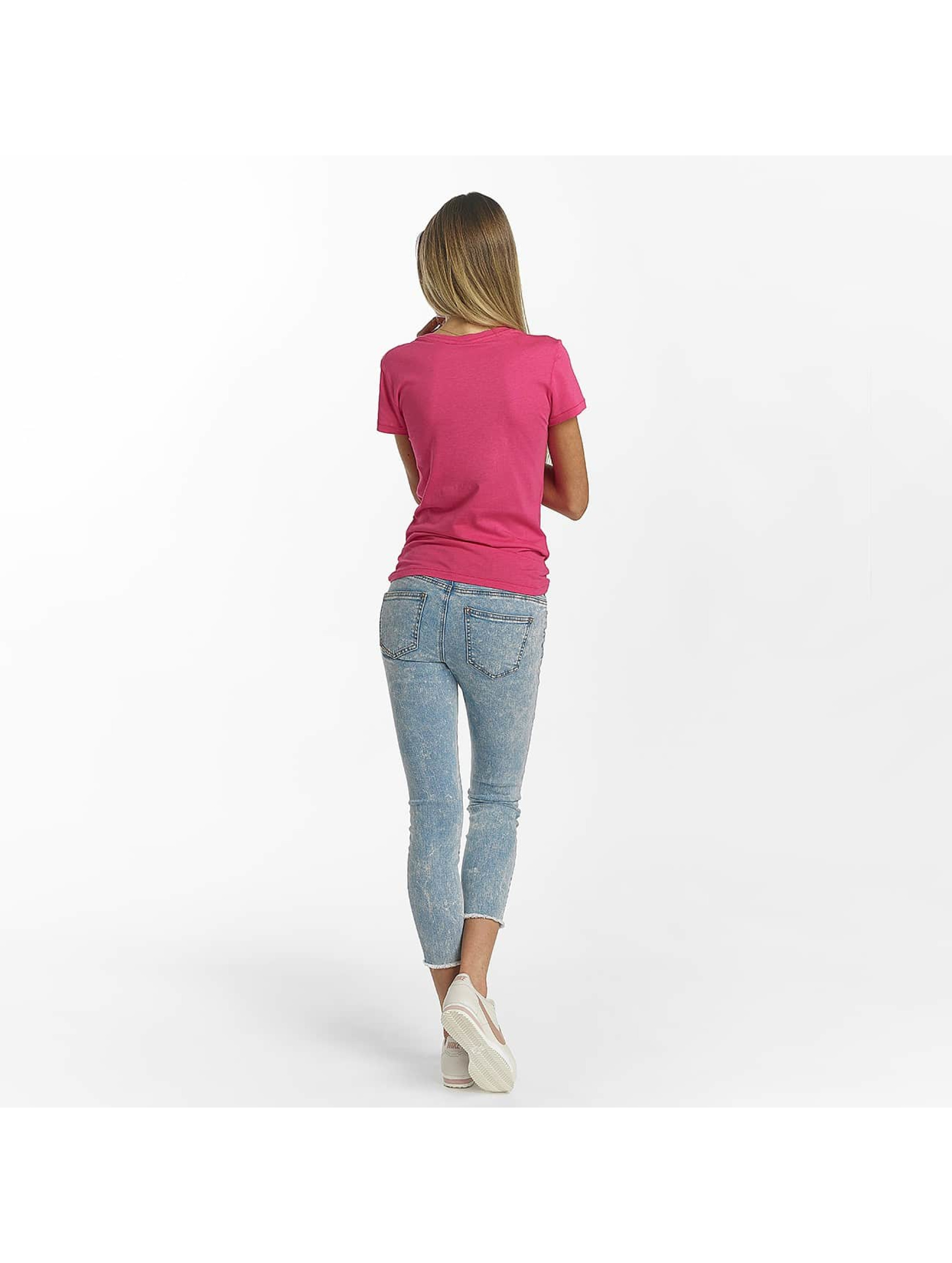 Bench T-shirt Slim Logo rosa