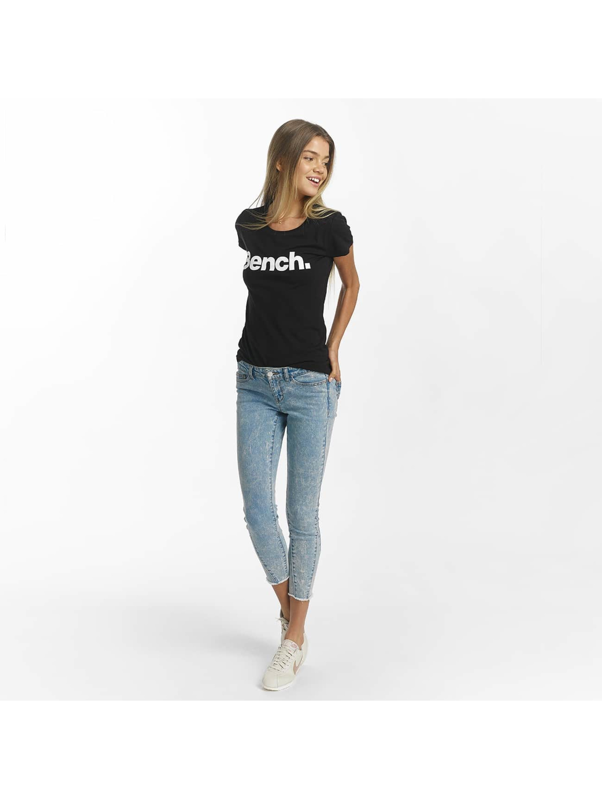 Bench T-Shirt Slim Logo schwarz