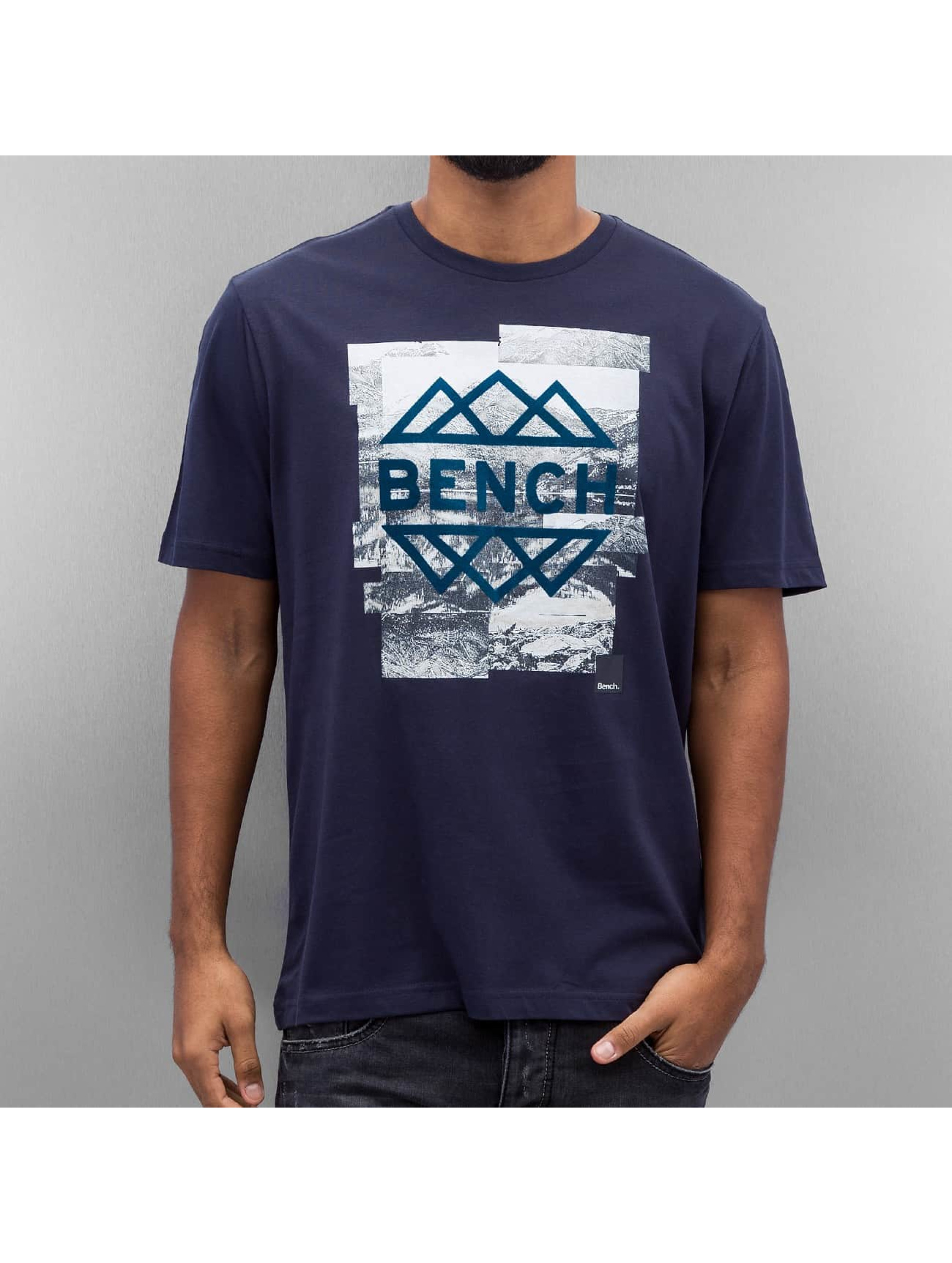 Bench T-Shirty Graphic niebieski