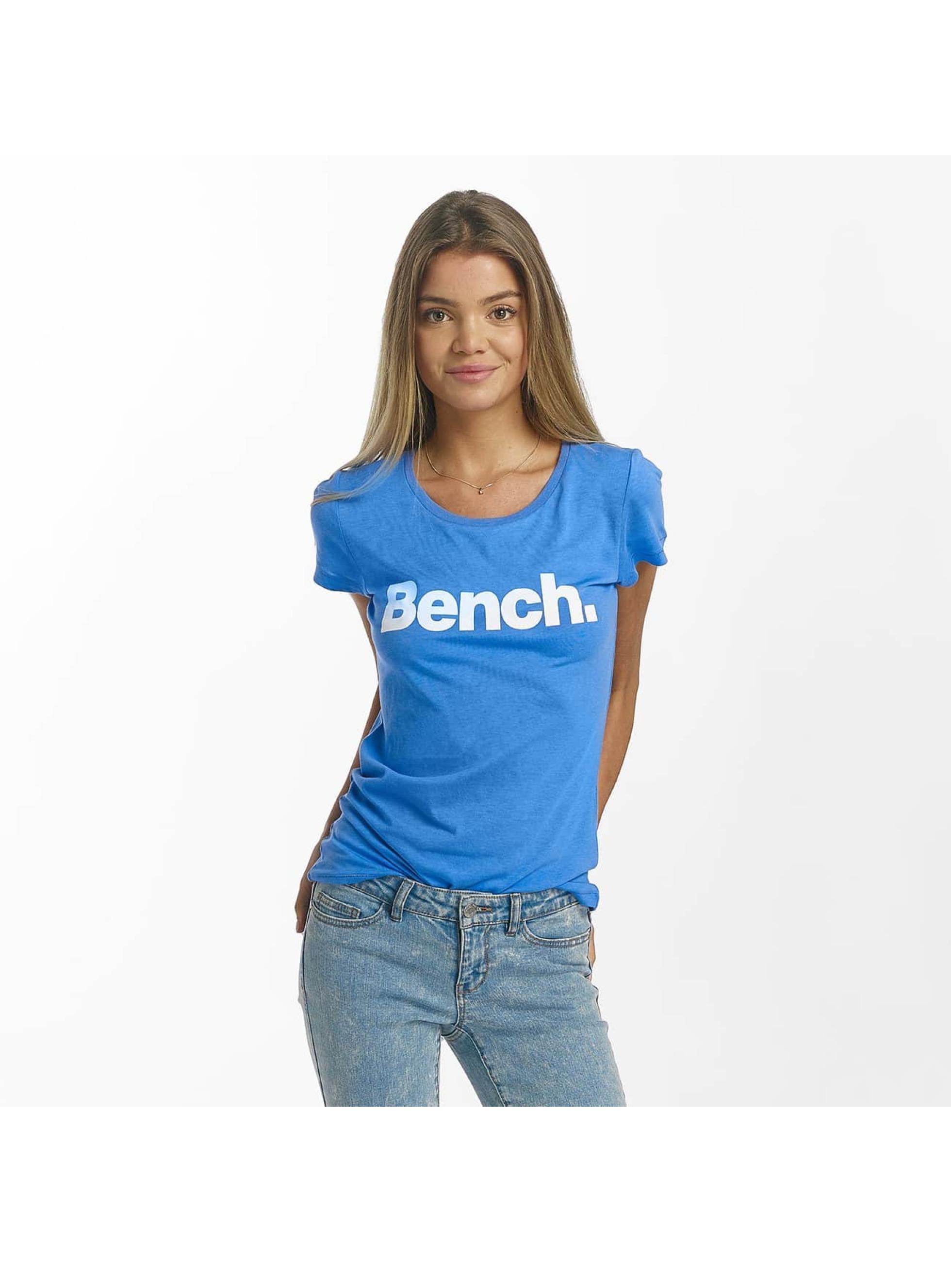 Bench T-Shirty Slim Logo niebieski
