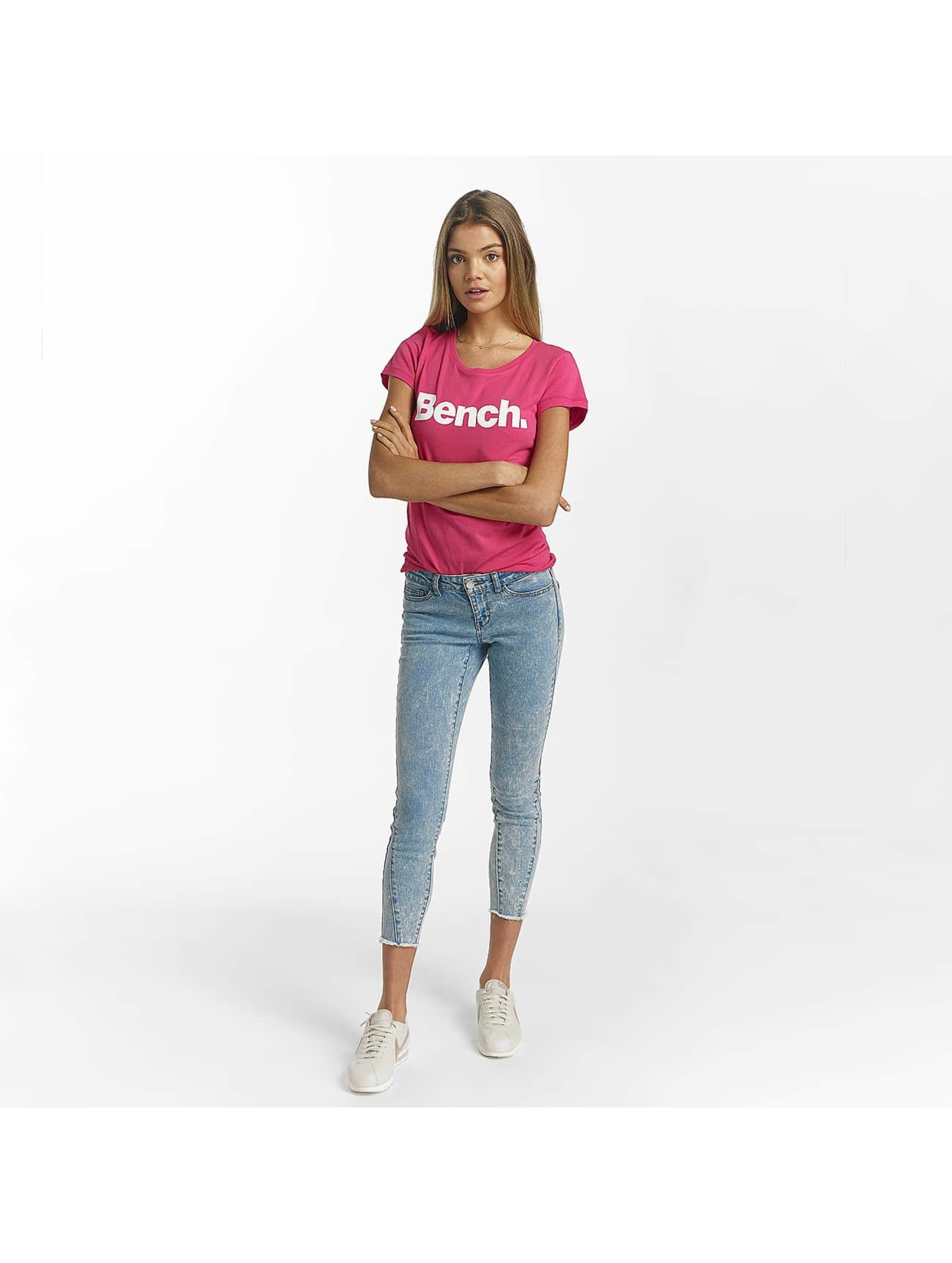 Bench T-Shirty Slim Logo pink
