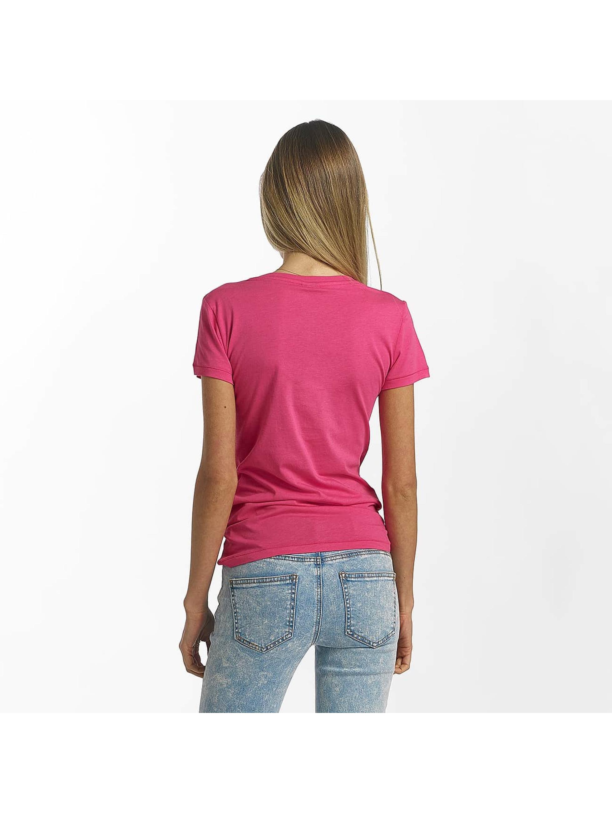 Bench T-skjorter Slim Logo lyserosa