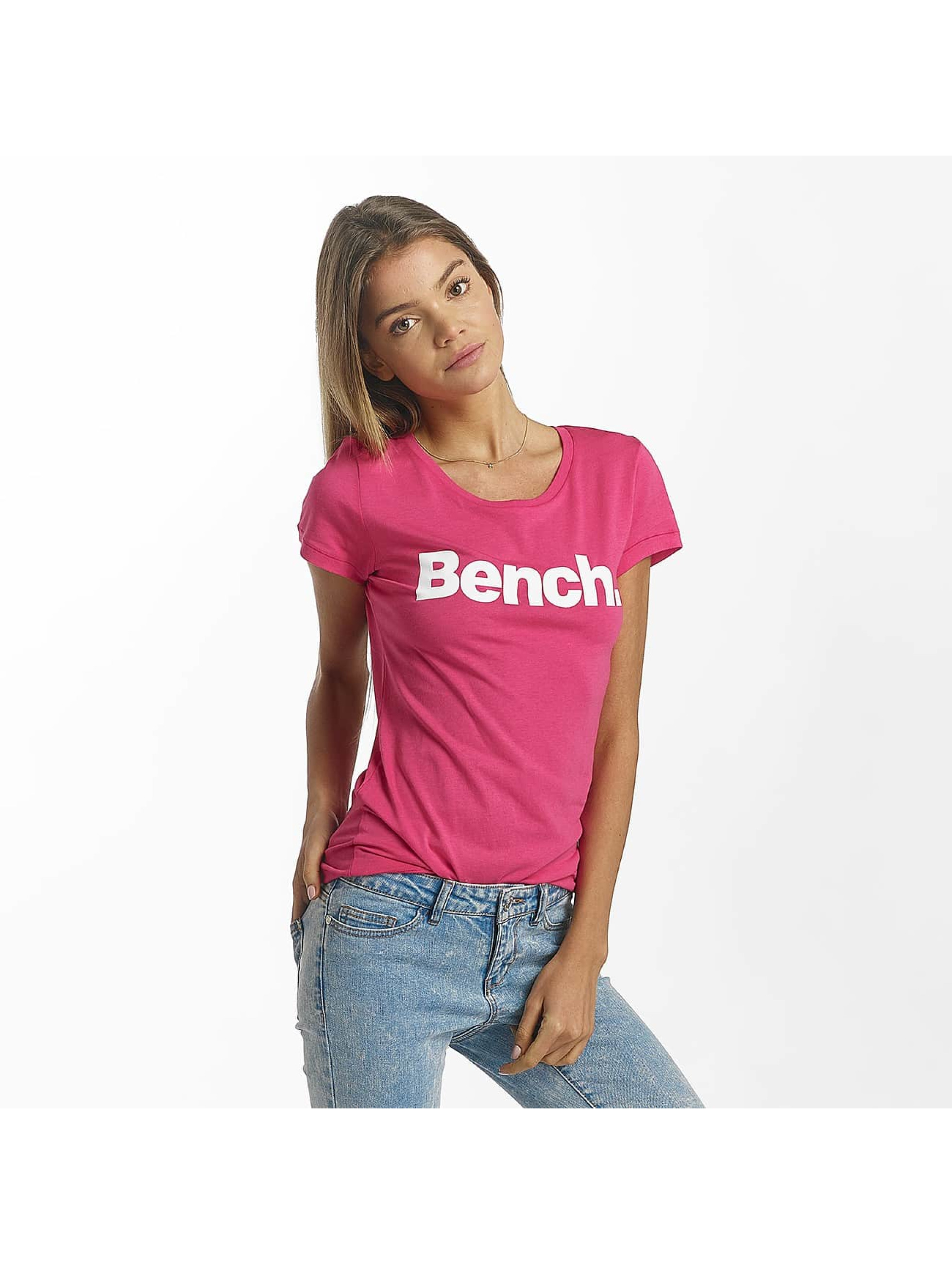 Bench Tričká Slim Logo pink