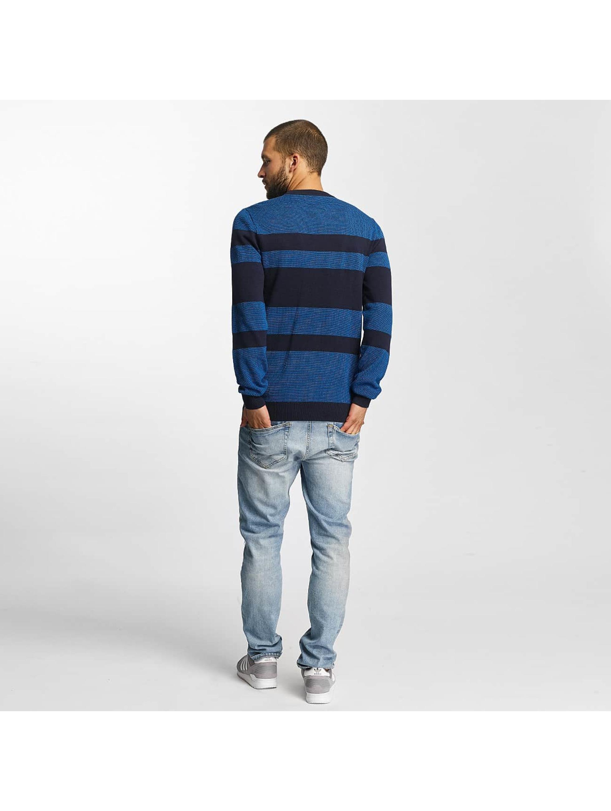 Bench trui Structured Stripe blauw