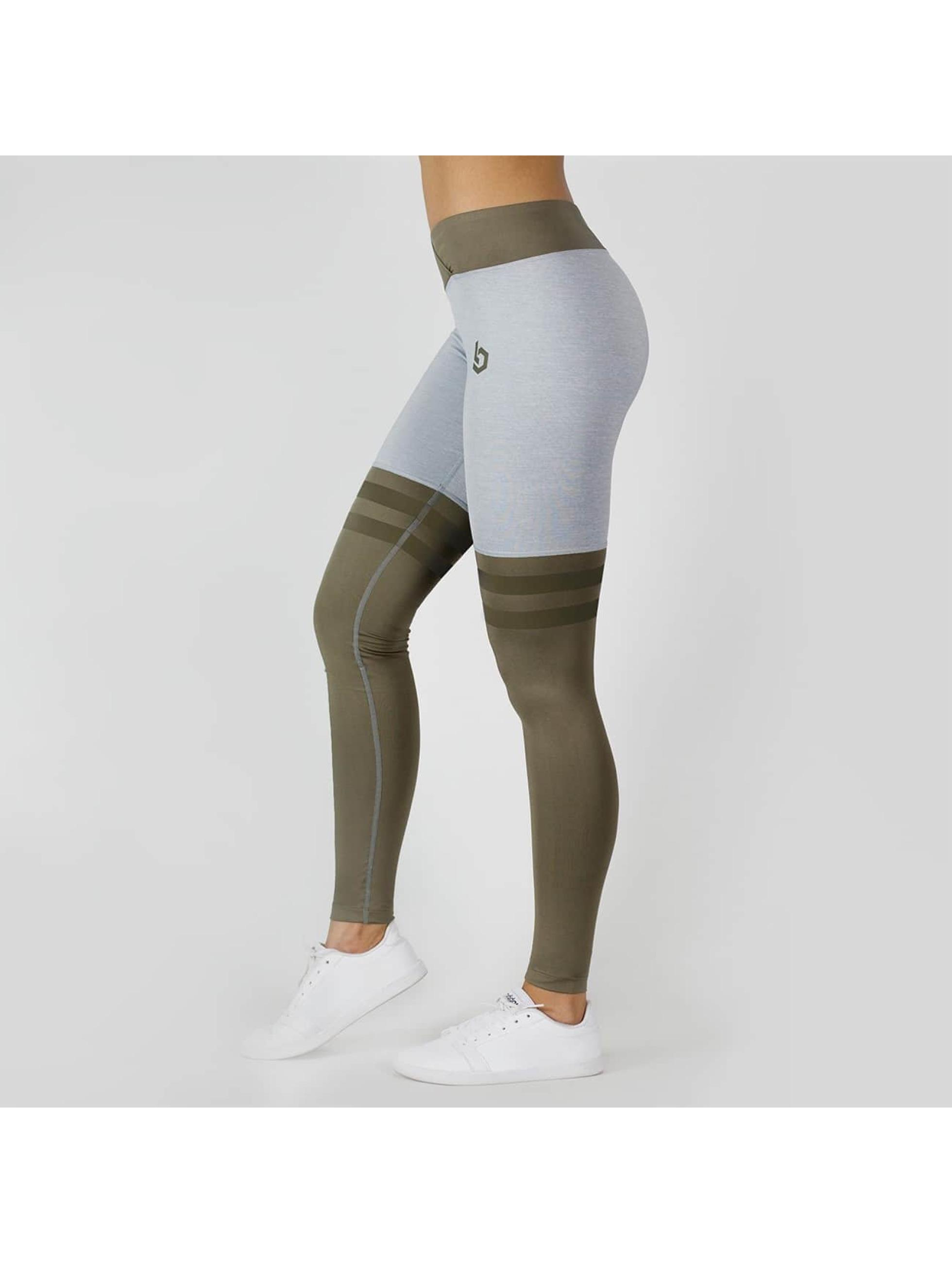 Beyond Limits Leggings/Treggings Overknee Stripe gray