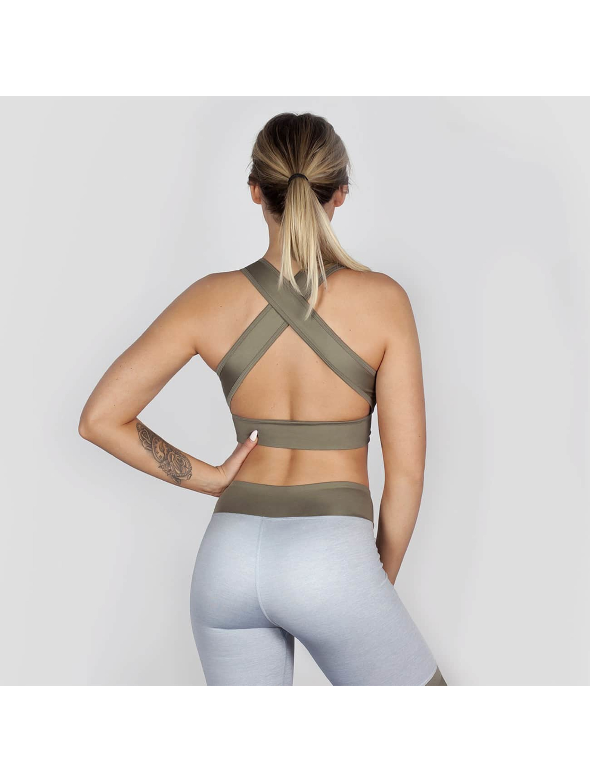 Beyond Limits Sports Bra Crossback gray