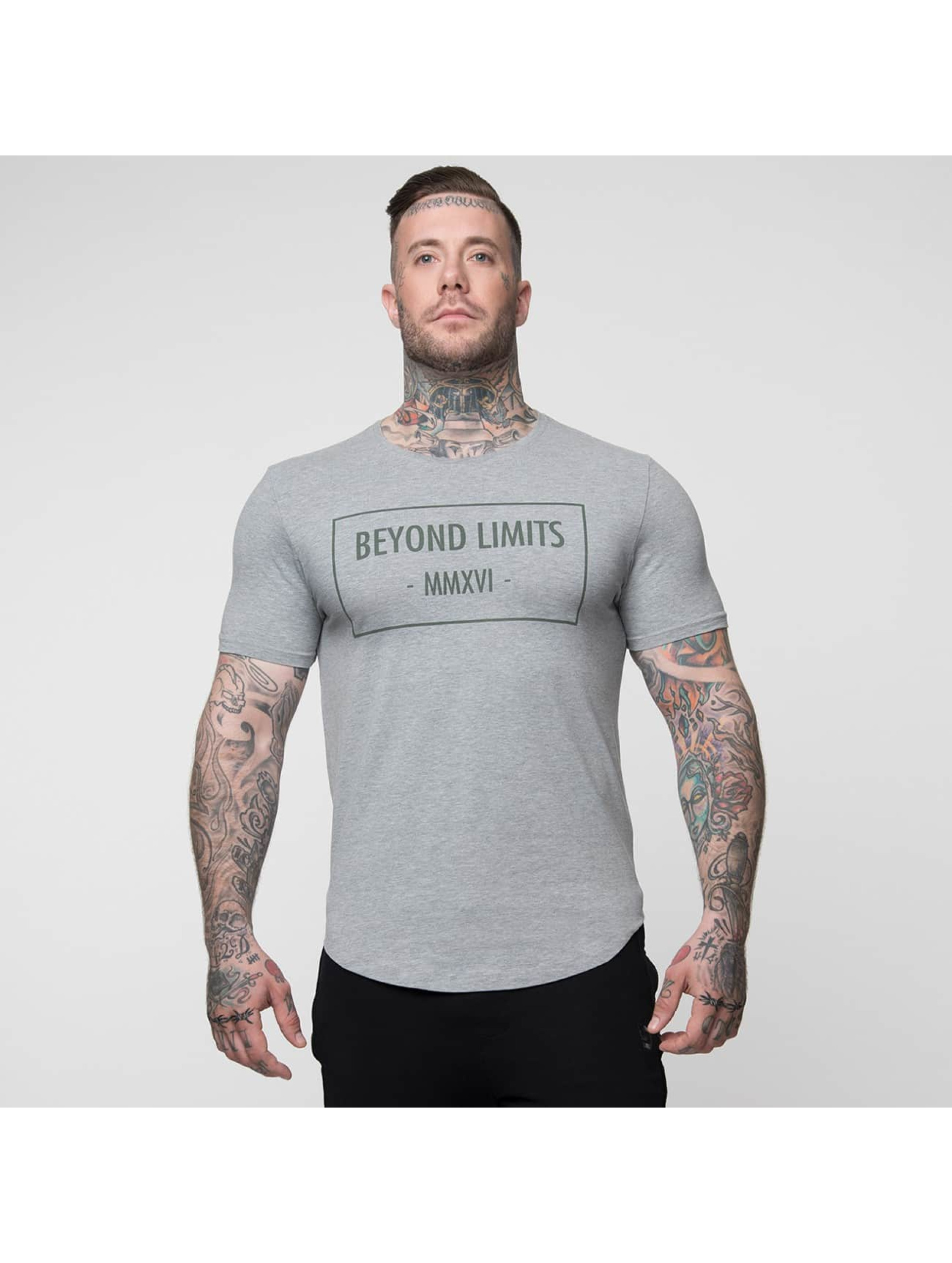 Beyond Limits T-Shirty Signature szary