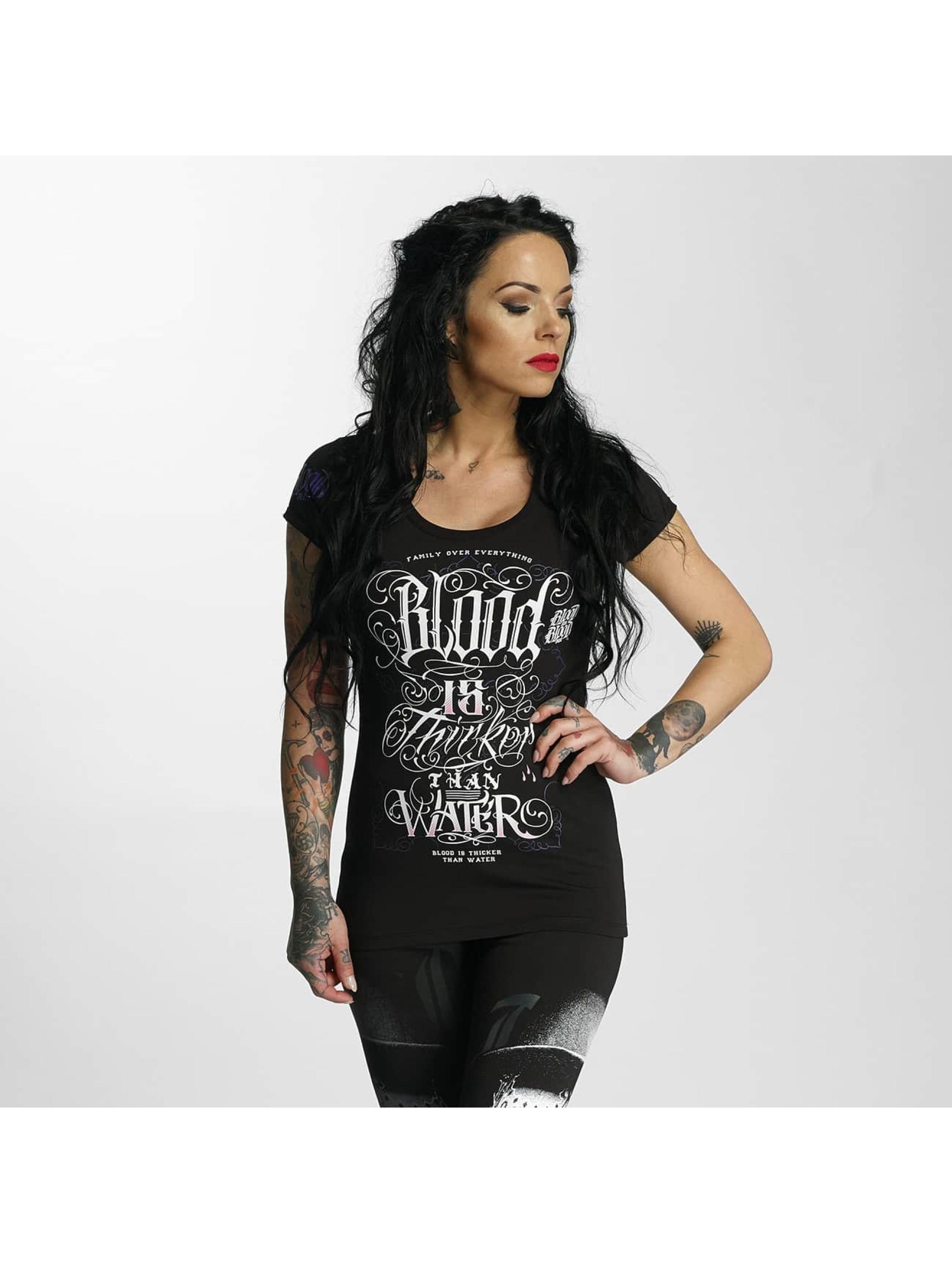Blood In Blood Out Camiseta Sangre Gruesa negro
